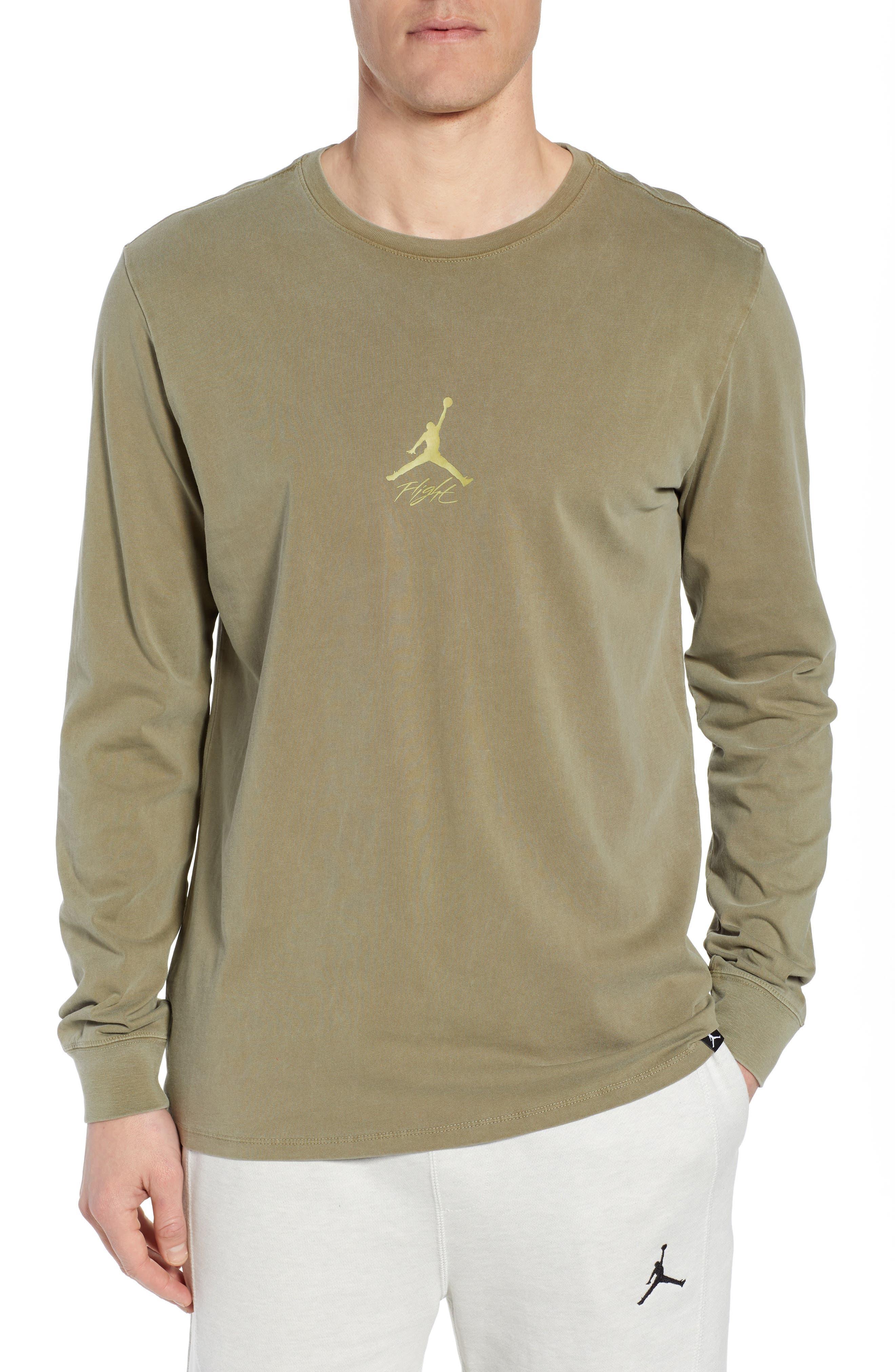 Jordan Wings Long Sleeve T-Shirt, Green