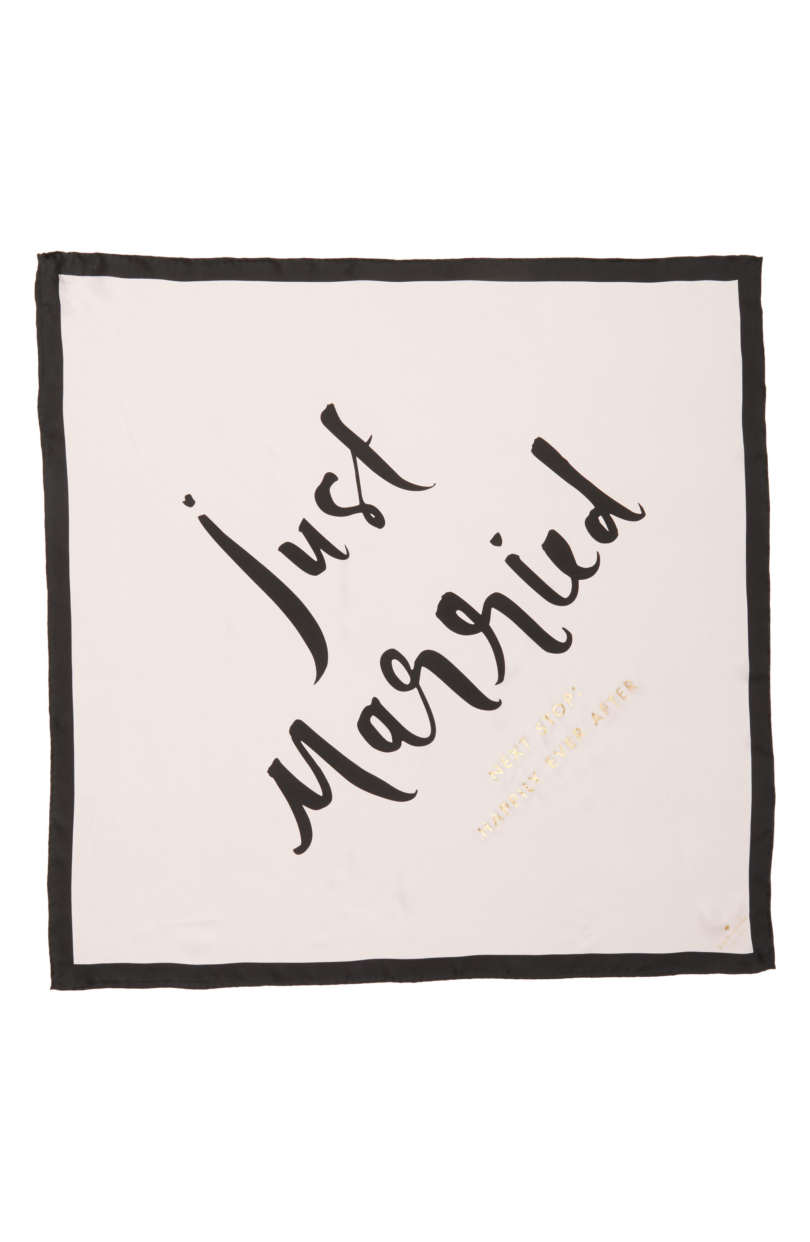 just married square silk scarf,                             Alternate thumbnail 3, color,                             650