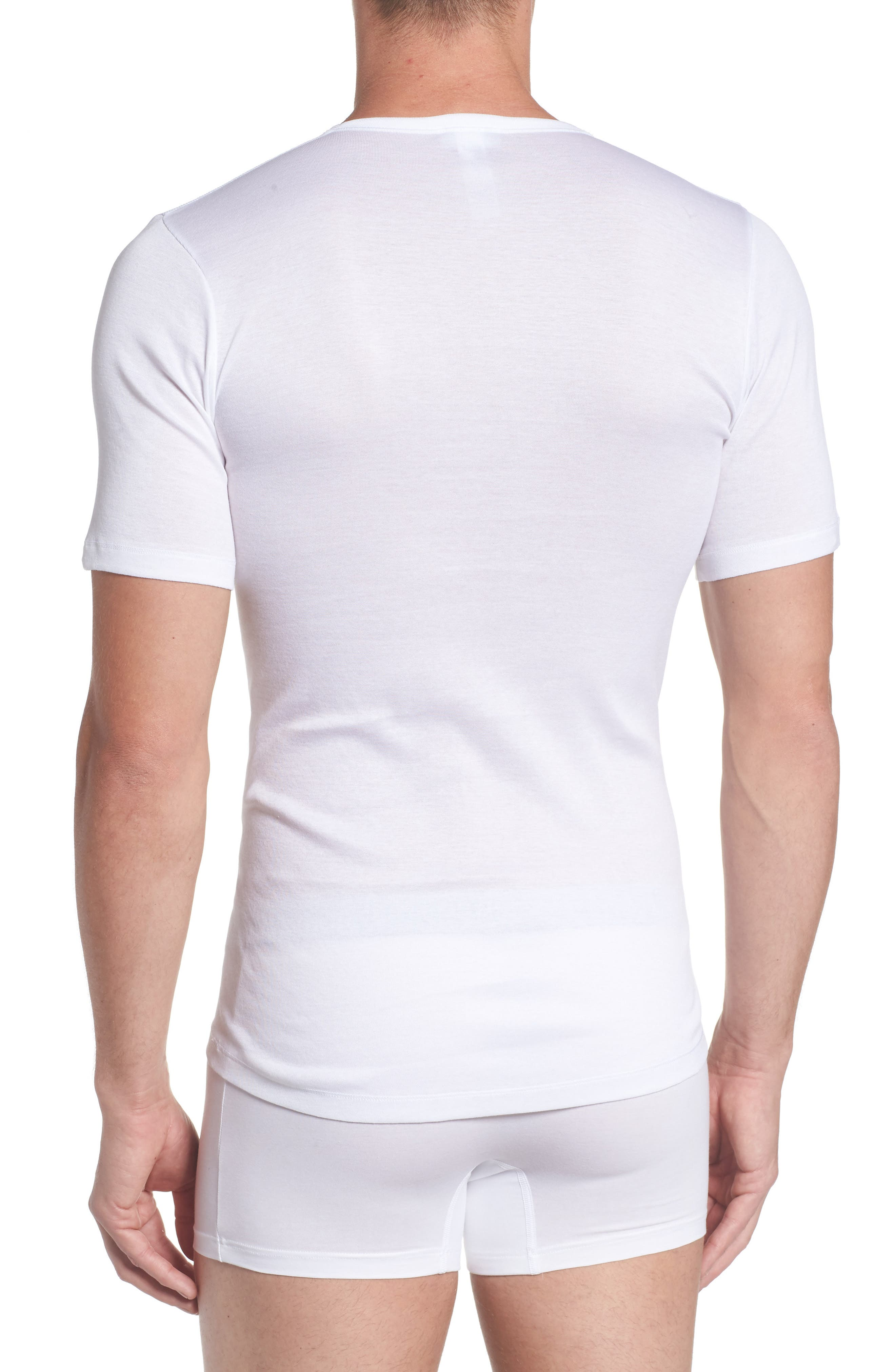 Cotton Pure Crewneck T-Shirt,                             Alternate thumbnail 2, color,                             100