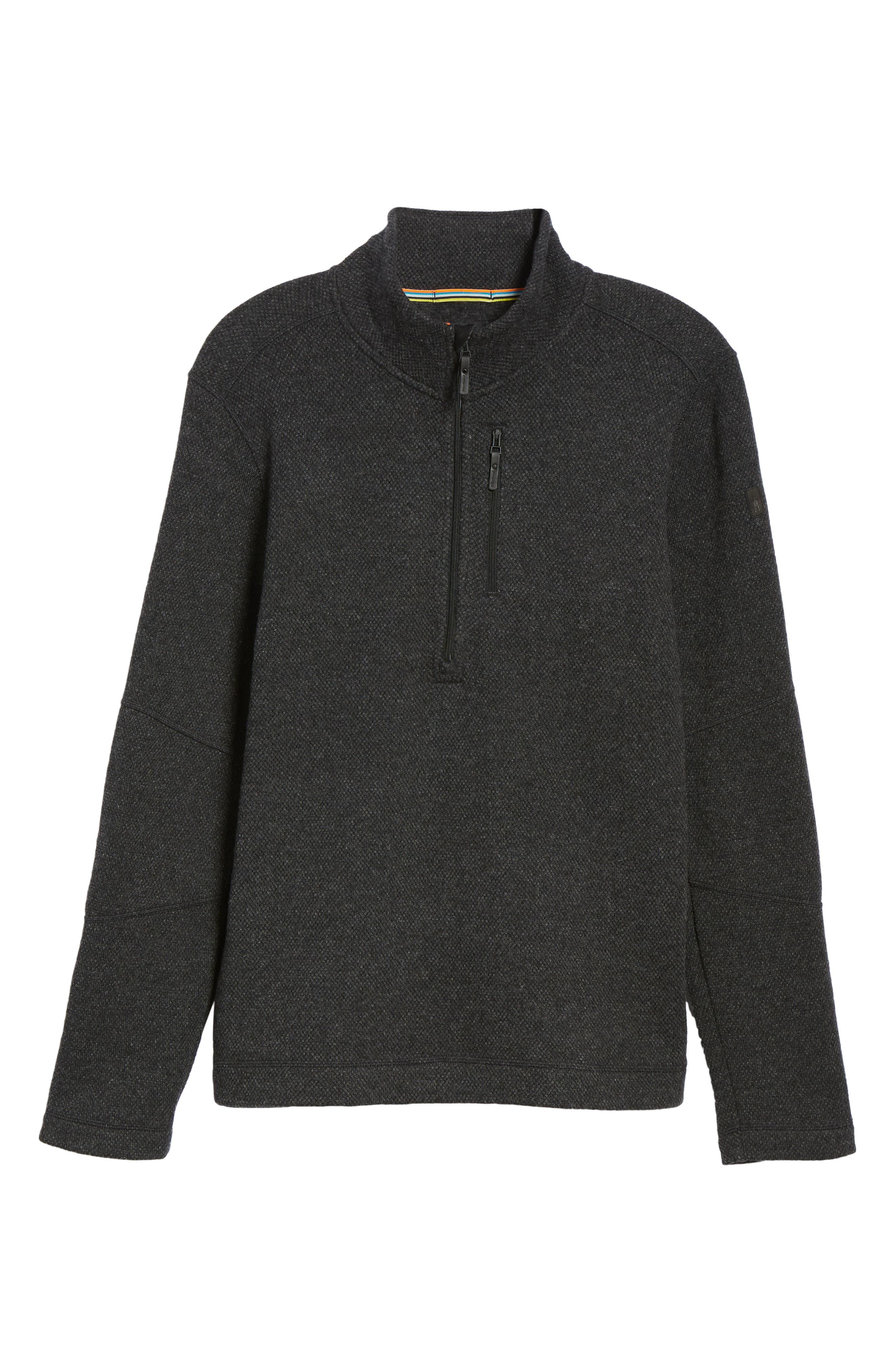 Hudson Trail Regular Fit Fleece Half-Zip Sweater,                             Alternate thumbnail 6, color,                             020