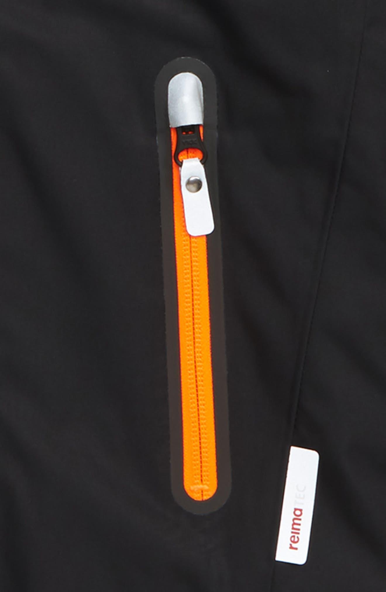Regor Reimatec<sup>®</sup> Waterproof & Windproof Hooded Jacket,                             Alternate thumbnail 2, color,                             BLACK