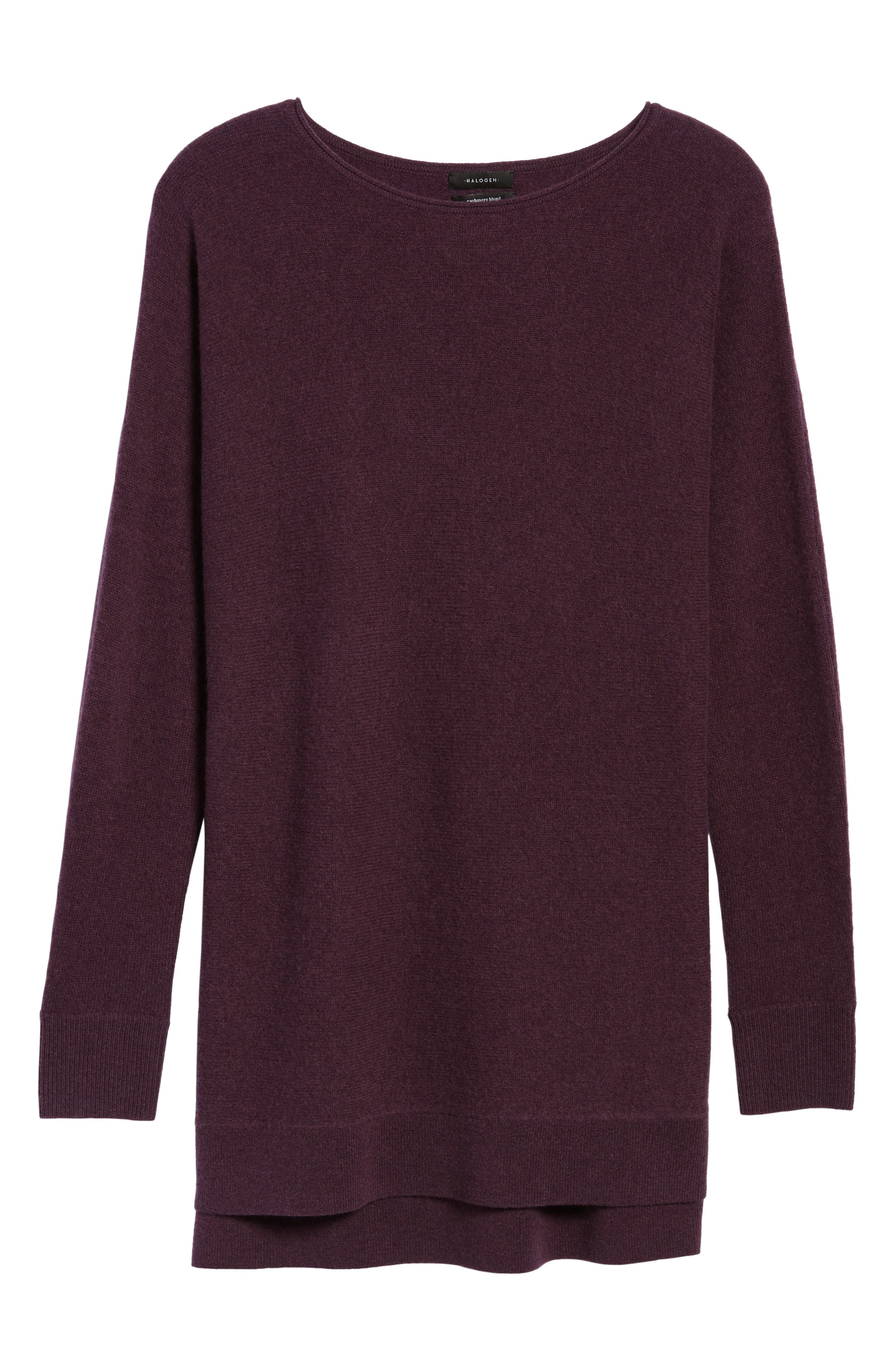 High/Low Wool & Cashmere Tunic Sweater,                             Alternate thumbnail 98, color,