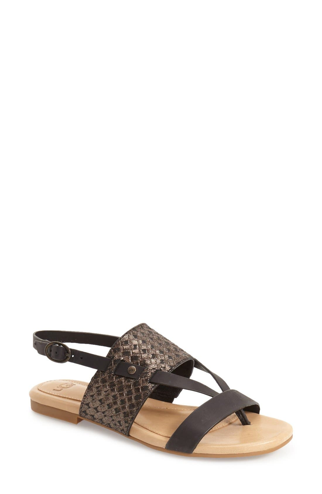 'Verona' Slingback Sandal, Main, color, 001