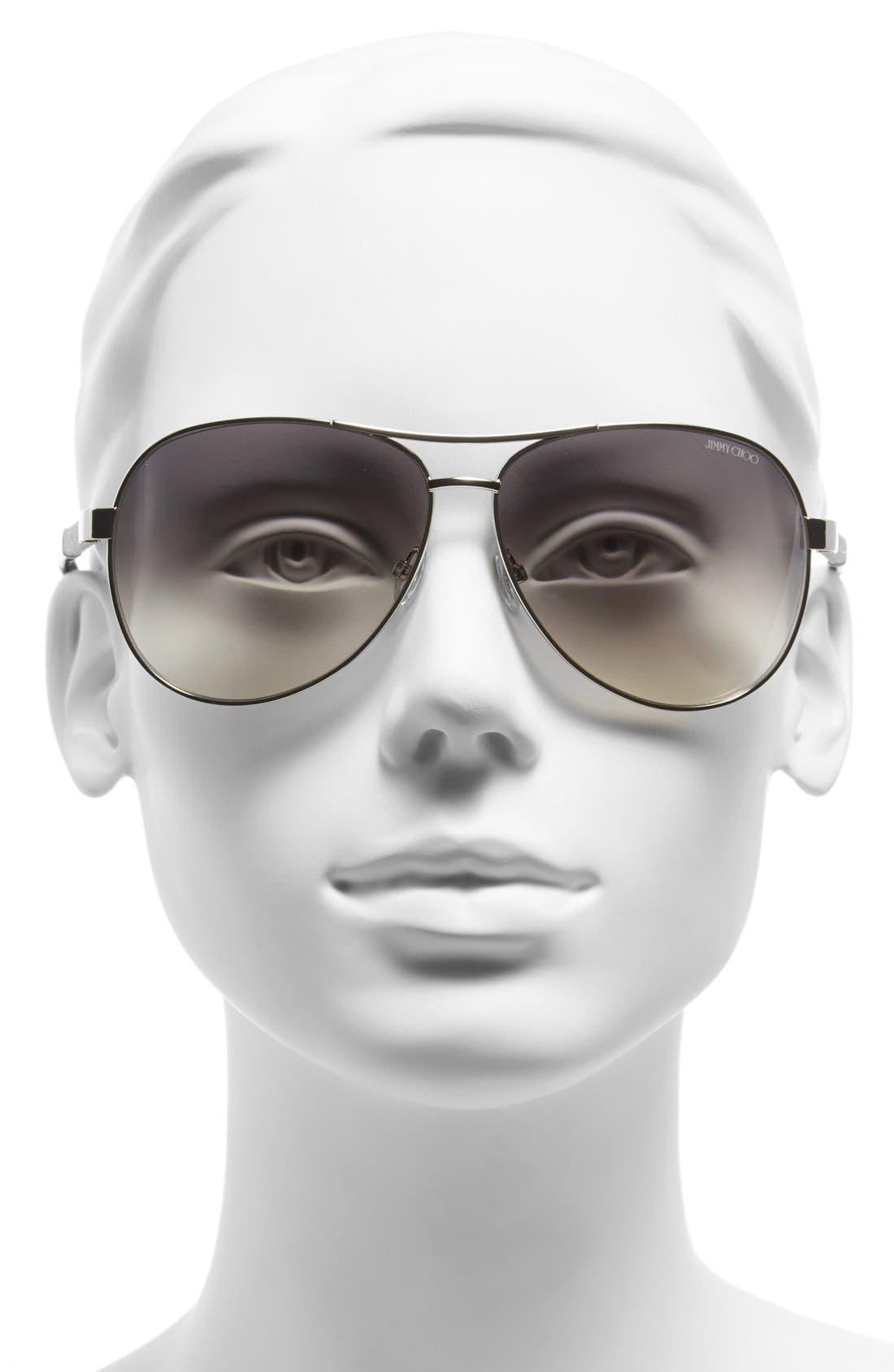 61mm Aviator Sunglasses,                             Alternate thumbnail 5, color,