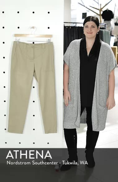 Stretch Cotton & Linen Ankle Pants, sales video thumbnail