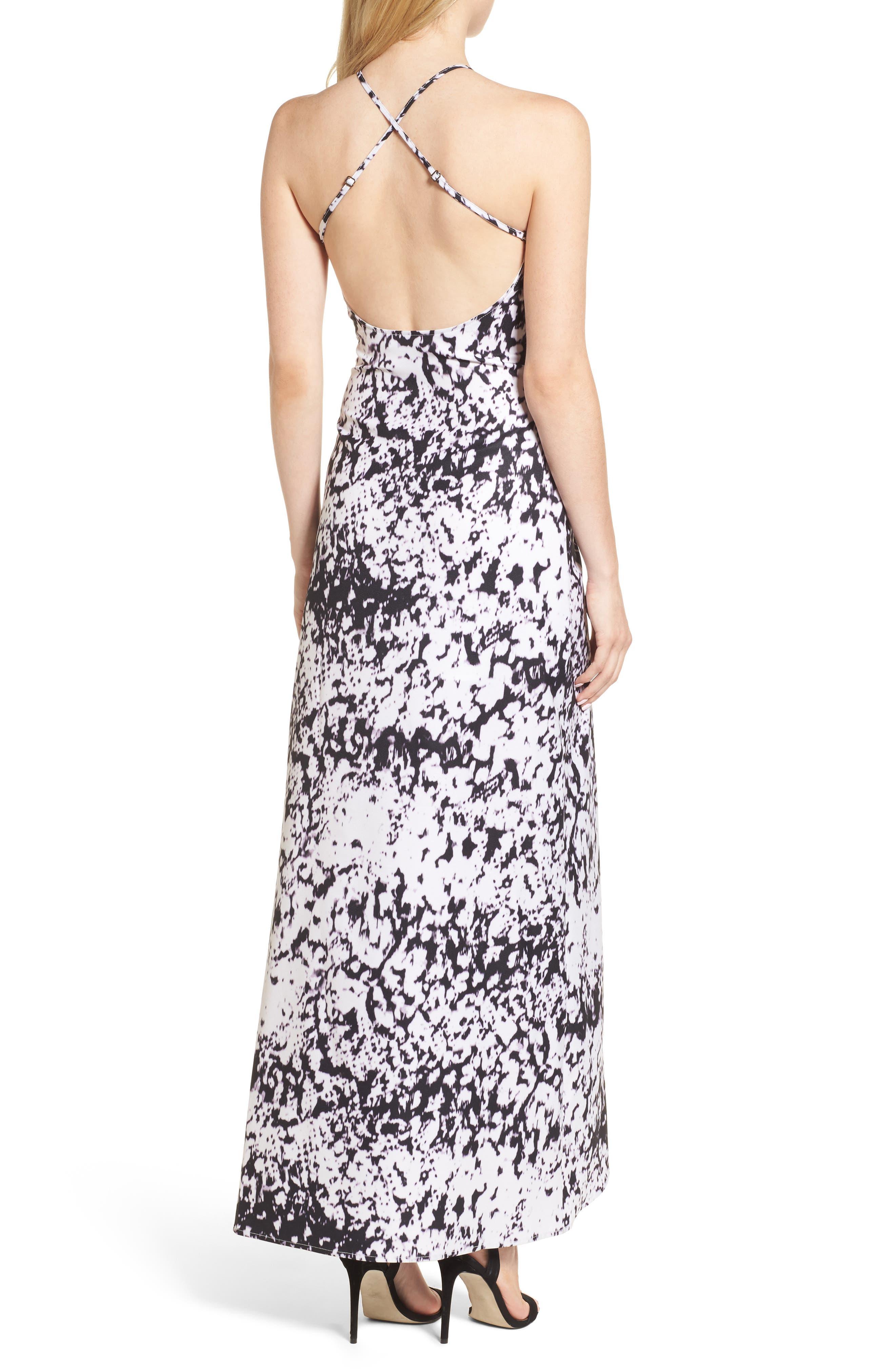 Halter Maxi Dress,                             Alternate thumbnail 2, color,                             101