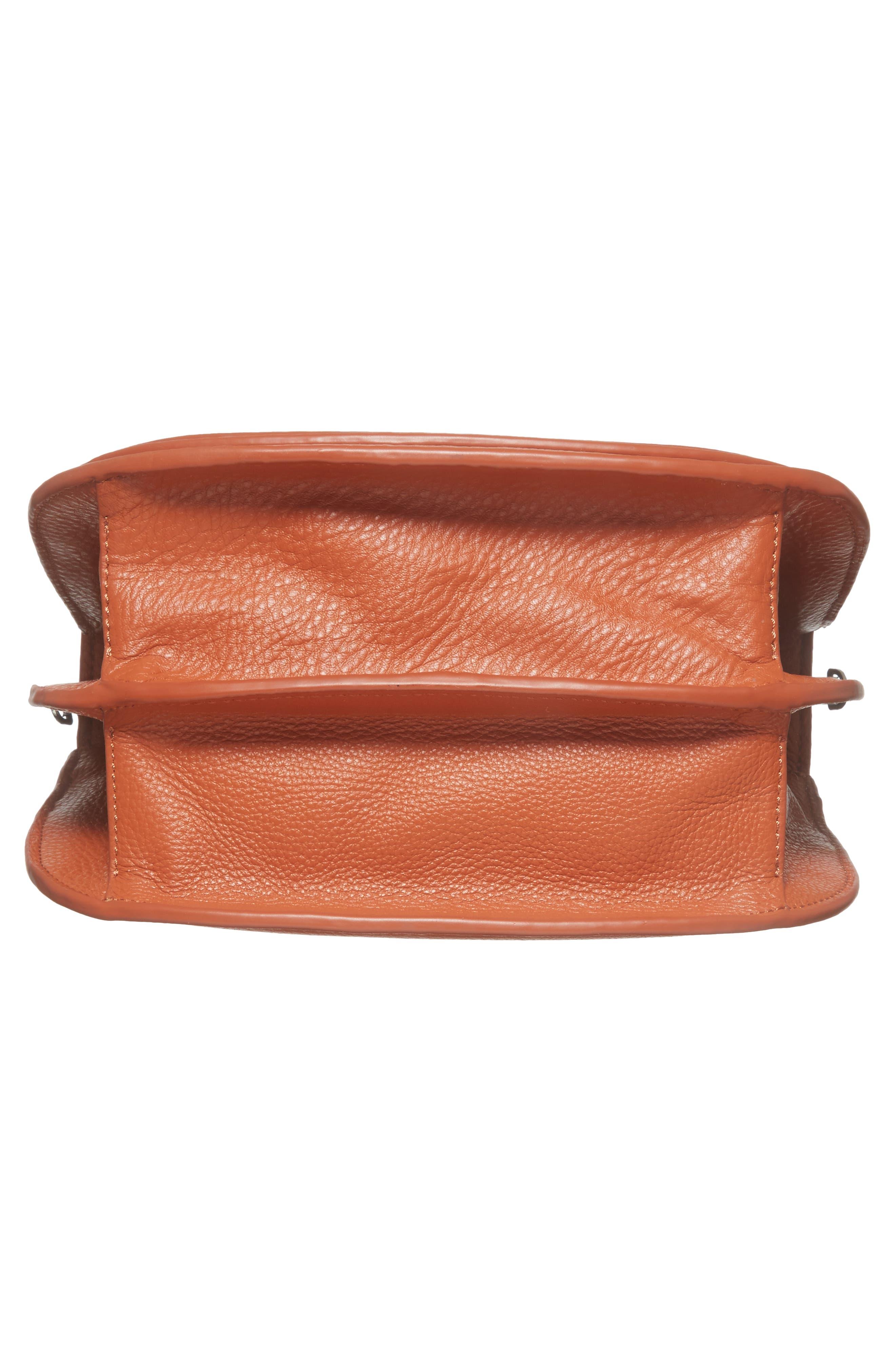 Landon Leather Crossbody Saddle Bag,                             Alternate thumbnail 24, color,