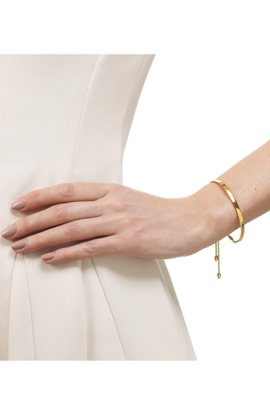 EngravableFiji Chain Bracelet,                             Alternate thumbnail 3, color,                             YELLOW GOLD