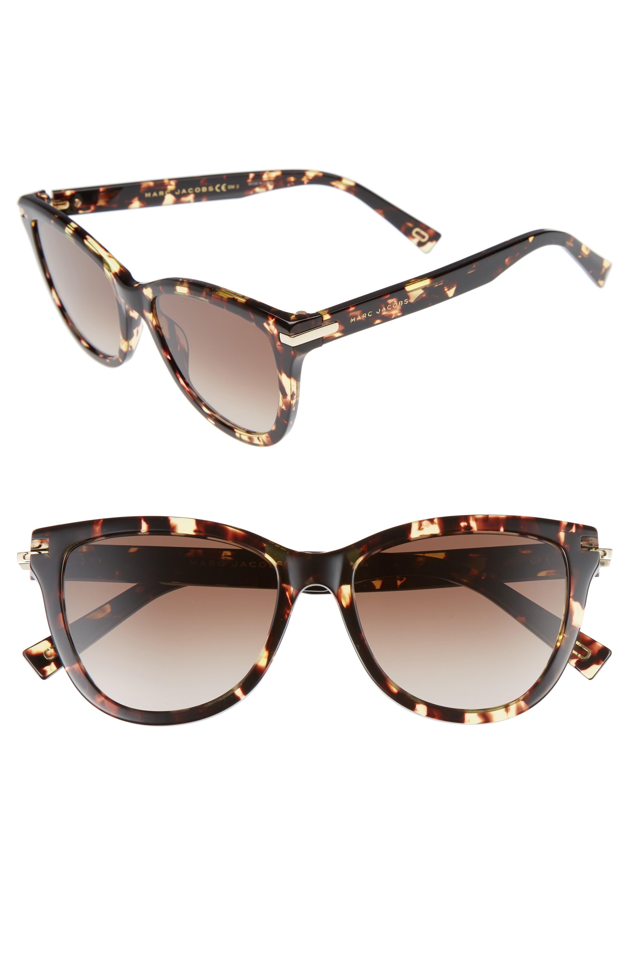 MARC JACOBS,                             54mm Sunglasses,                             Main thumbnail 1, color,                             CRYSTAL HAVANA