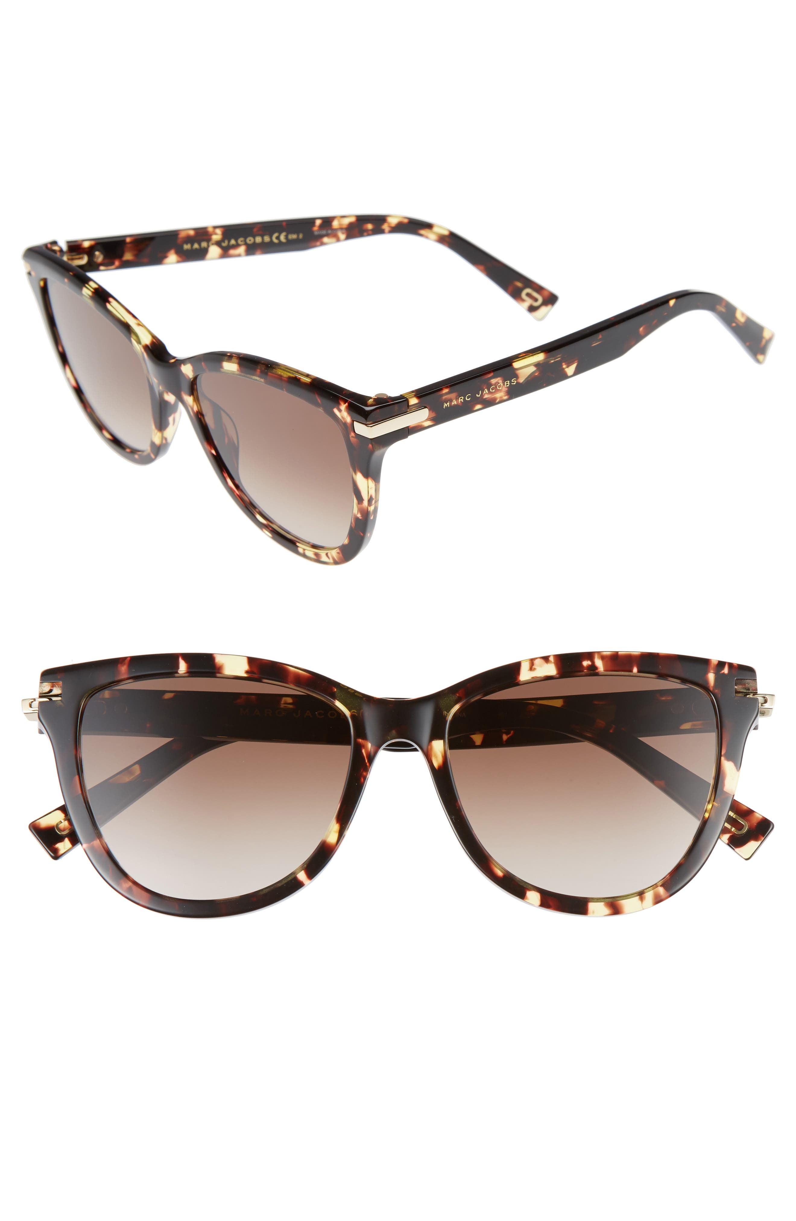 MARC JACOBS 54mm Sunglasses, Main, color, CRYSTAL HAVANA