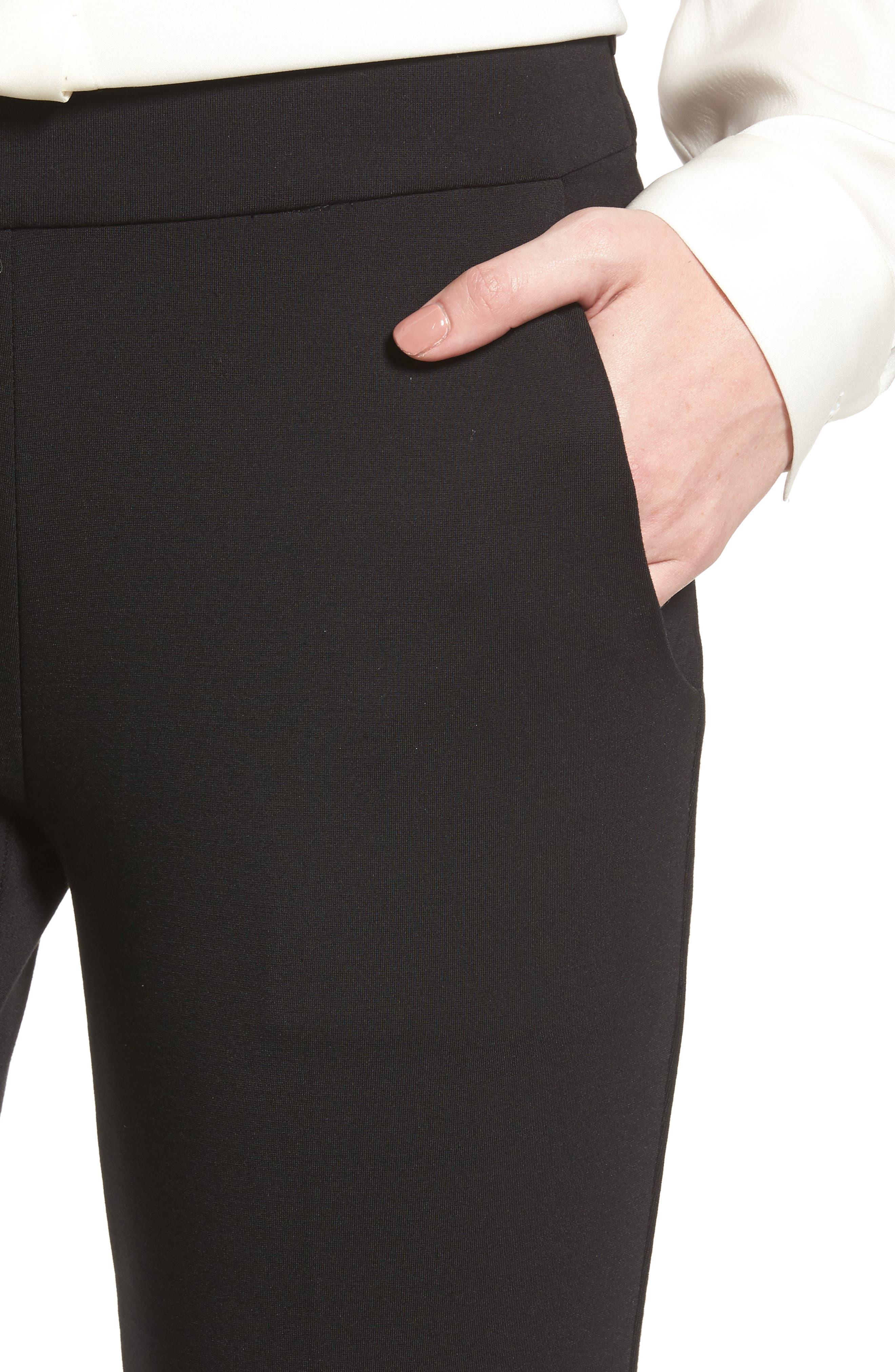 Flare Leg Pants,                             Alternate thumbnail 4, color,                             002