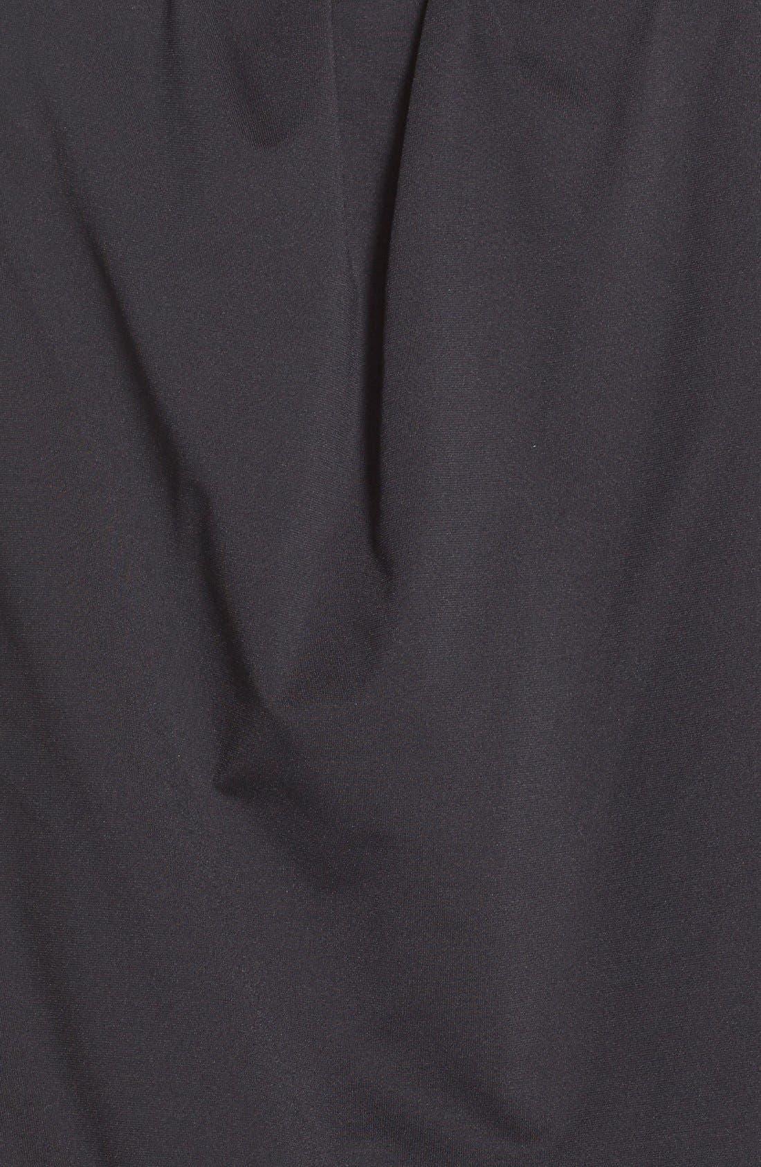 Bandini Blouson Tankini Top,                             Alternate thumbnail 6, color,                             BLACK