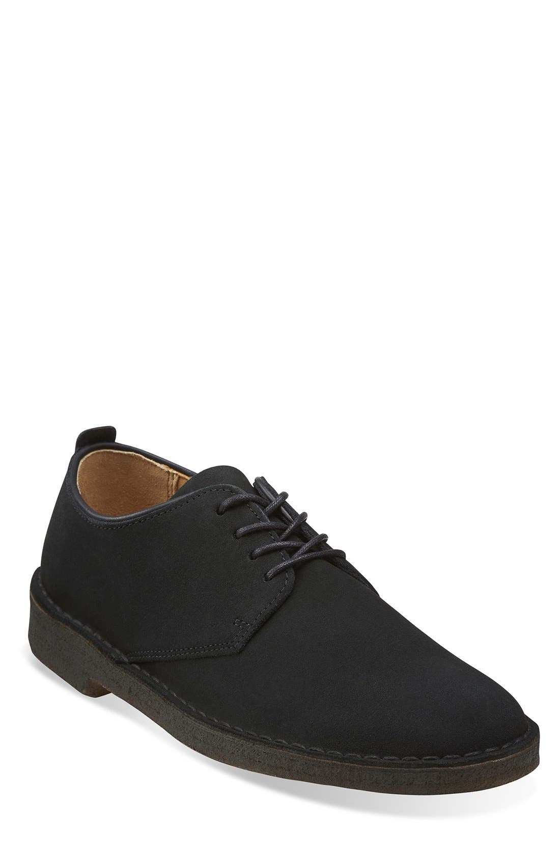 'Desert London' Plain Toe Derby,                             Main thumbnail 1, color,                             BLACK SUEDE
