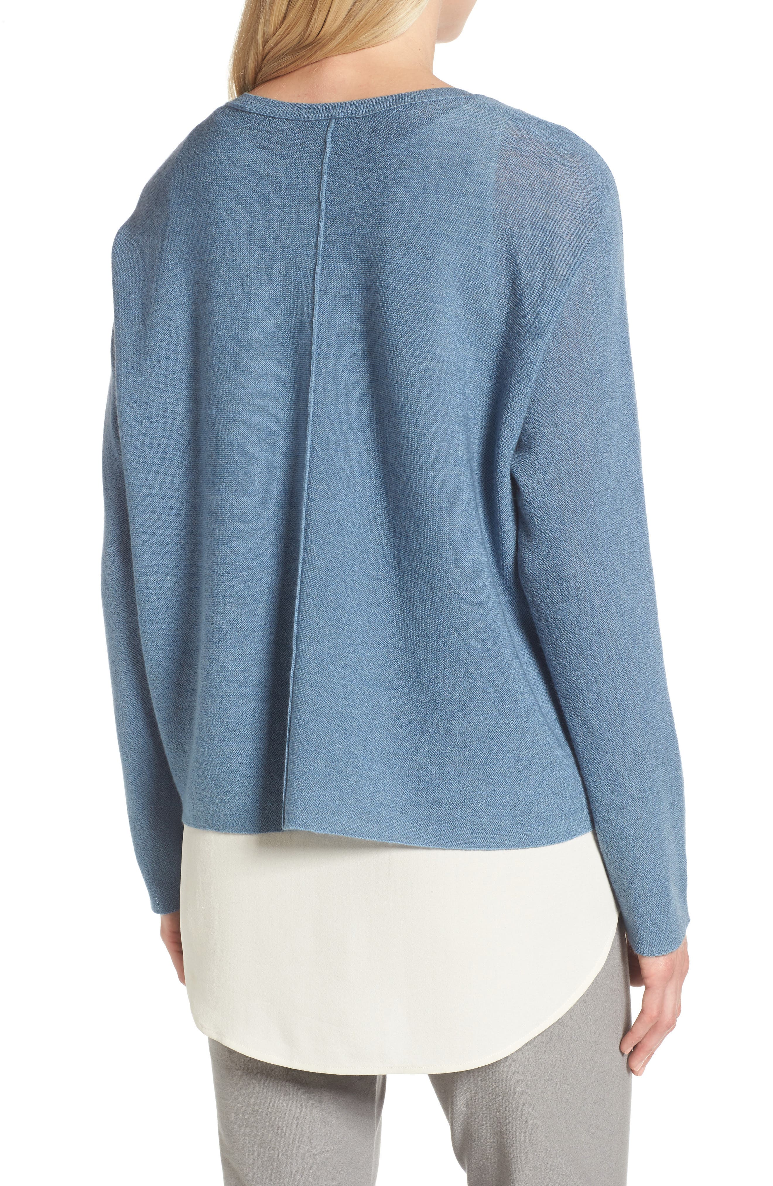 Merino Wool Sweater,                             Alternate thumbnail 8, color,