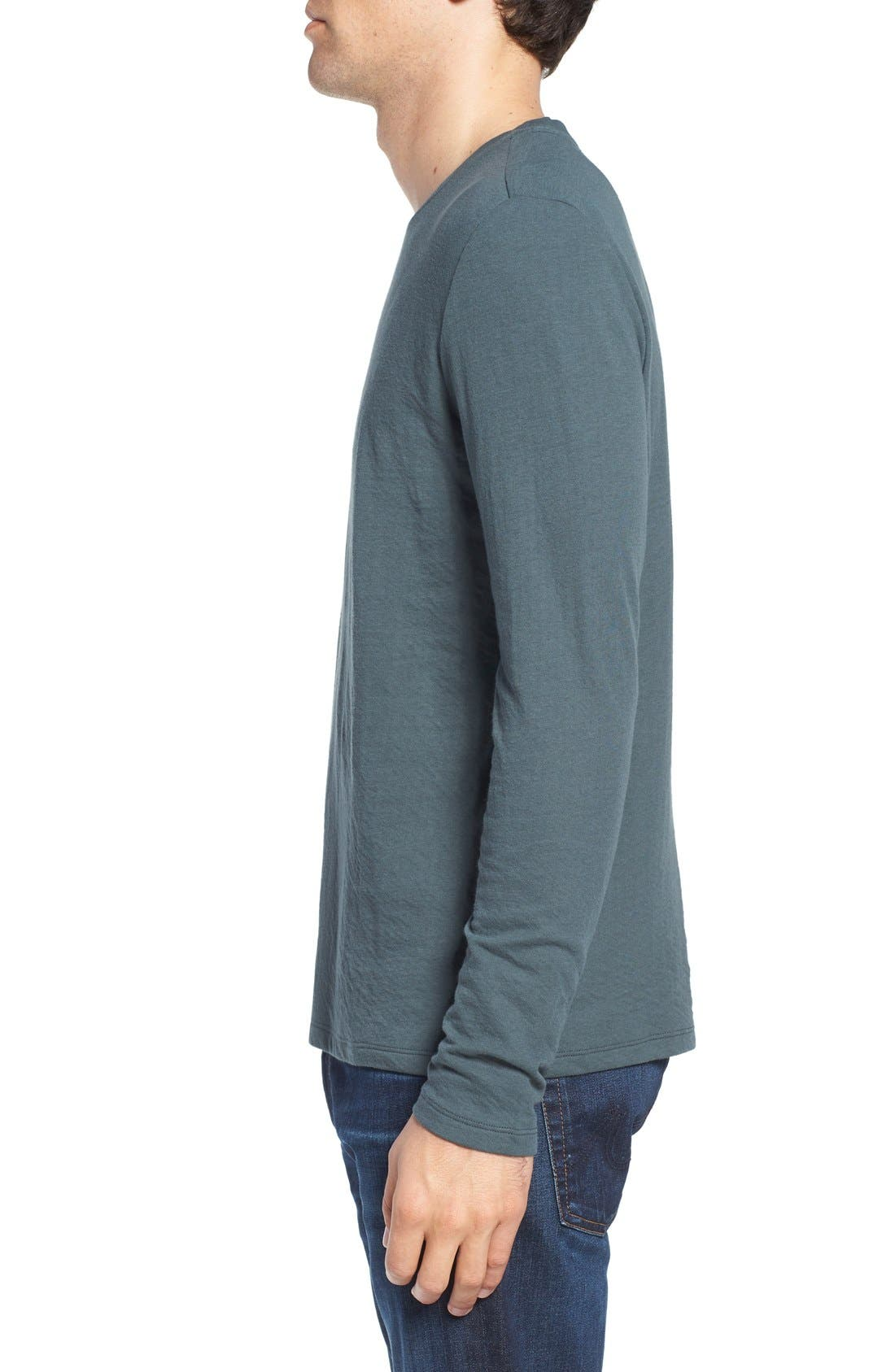 Long Sleeve Crewneck T-Shirt,                             Alternate thumbnail 3, color,                             310