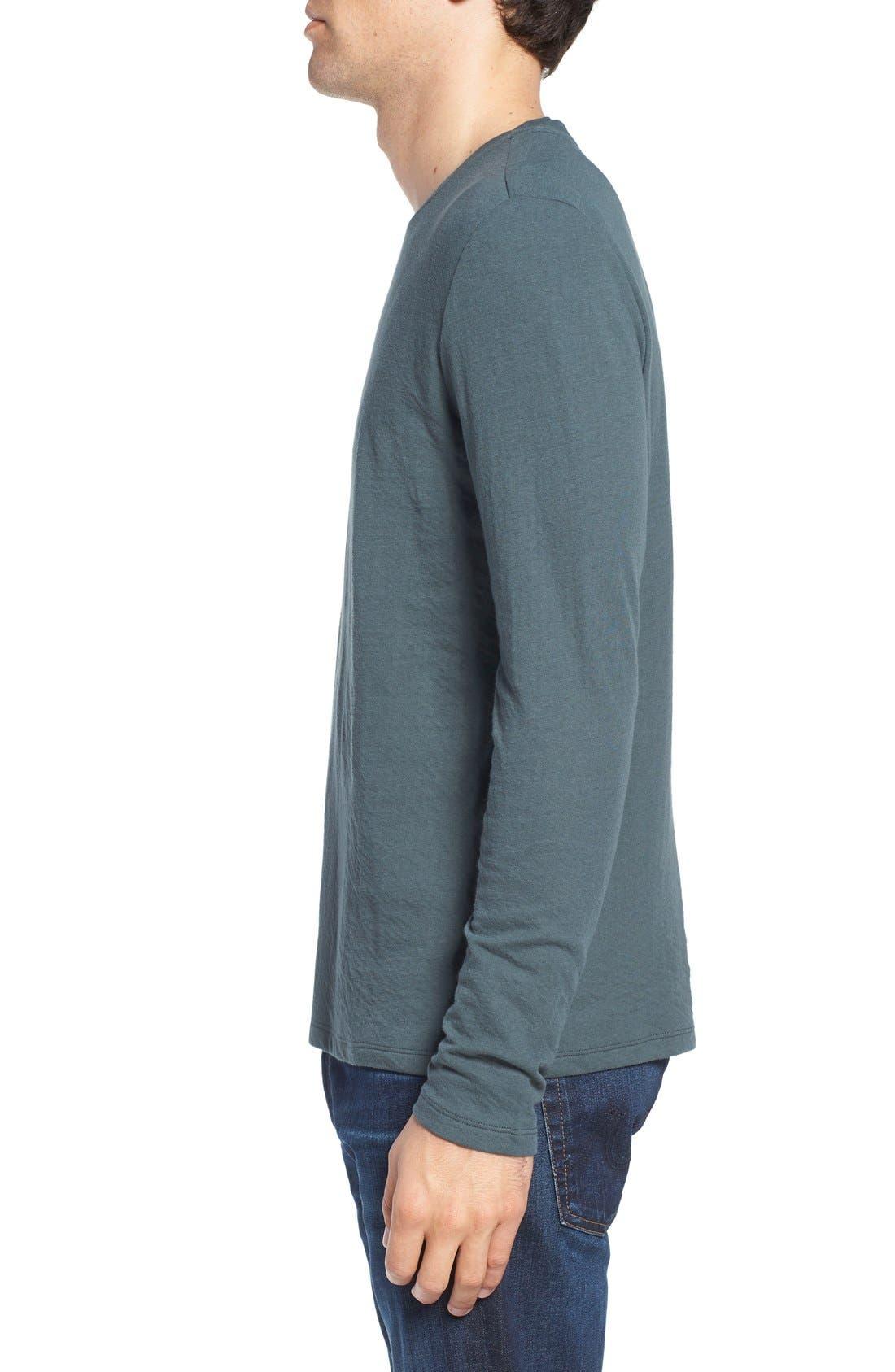 Long Sleeve Crewneck T-Shirt,                             Alternate thumbnail 9, color,