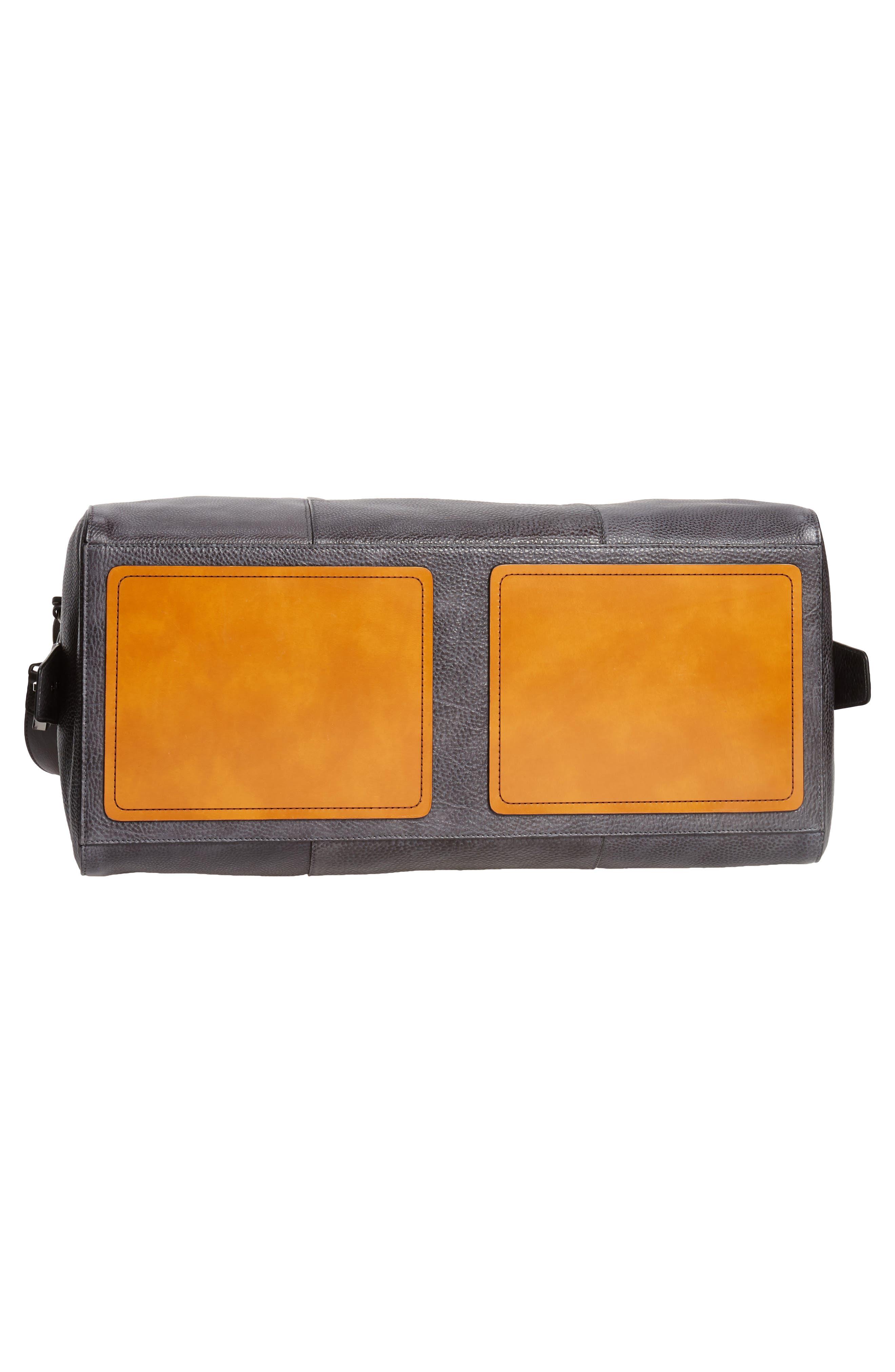 Traveler Leather Duffel Bag,                             Alternate thumbnail 6, color,                             020