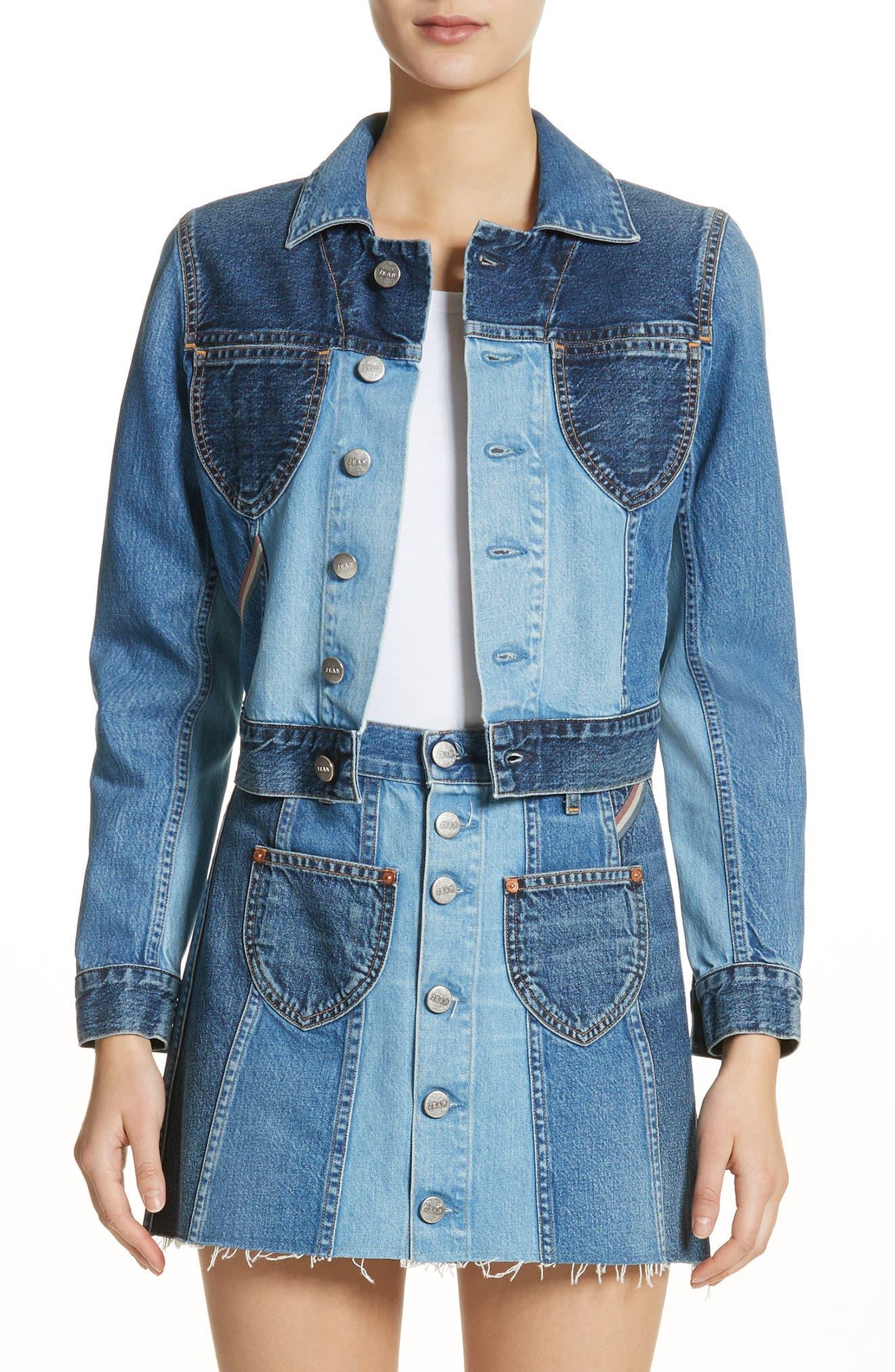 Jacques Crop Denim Jacket,                         Main,                         color,