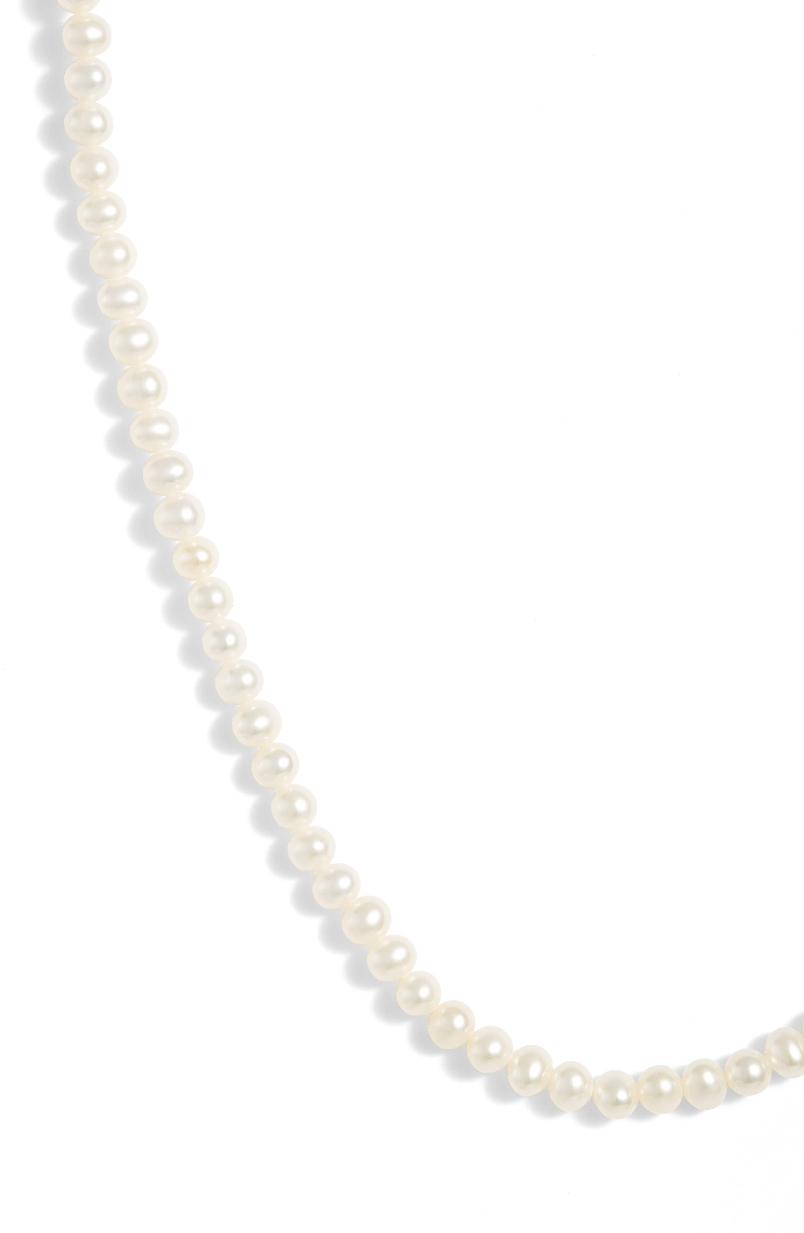 Pearl Short Strand Necklace,                             Main thumbnail 1, color,                             YELLOW GOLD