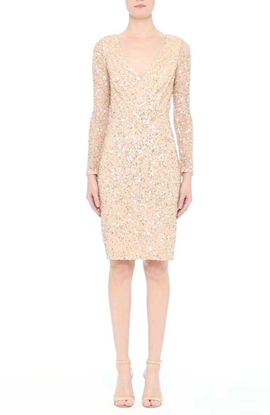 Sequin Body-Con Dress,                             Alternate thumbnail 7, color,                             710