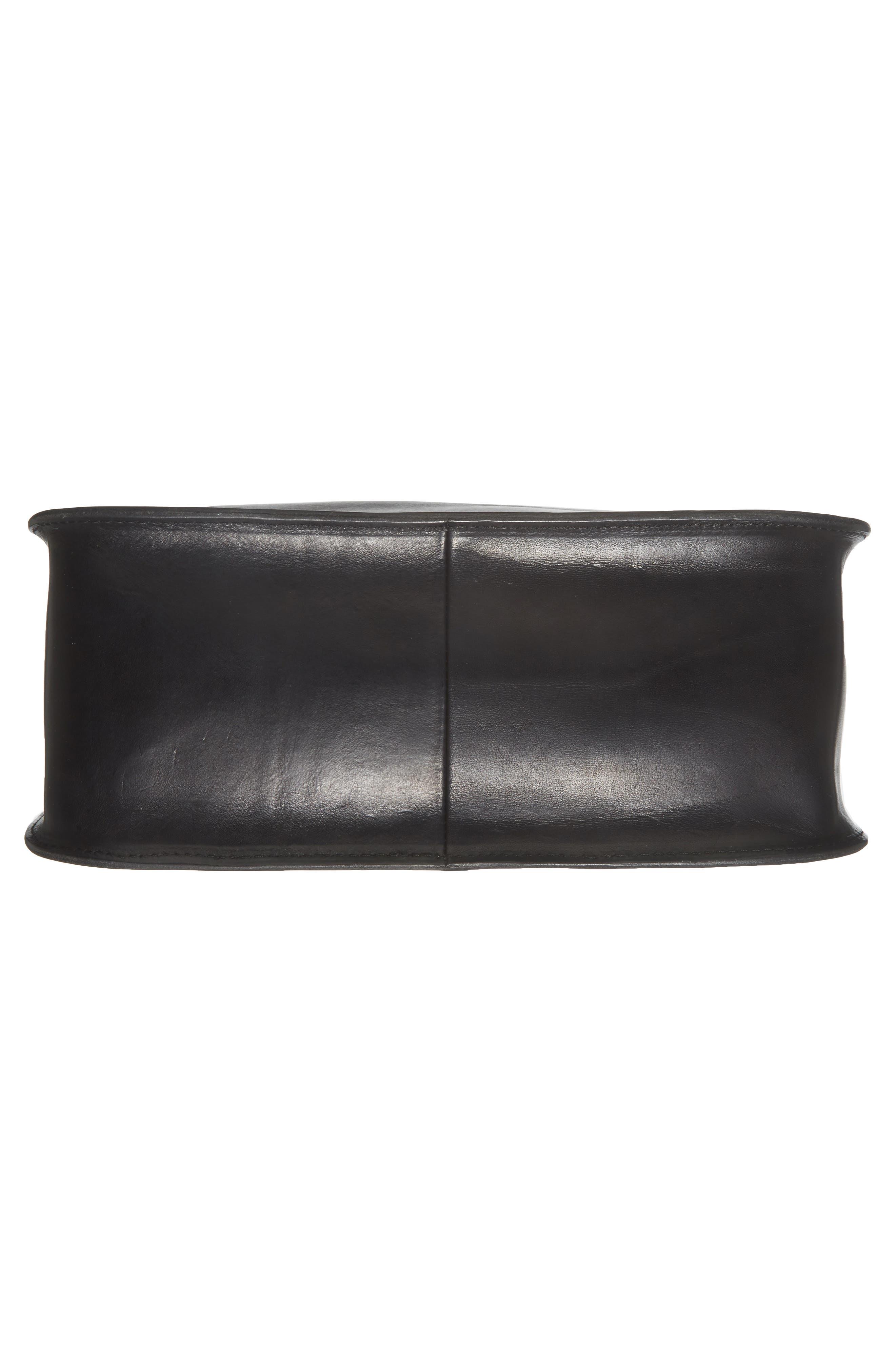 Montreal Leather Satchel,                             Alternate thumbnail 6, color,                             001