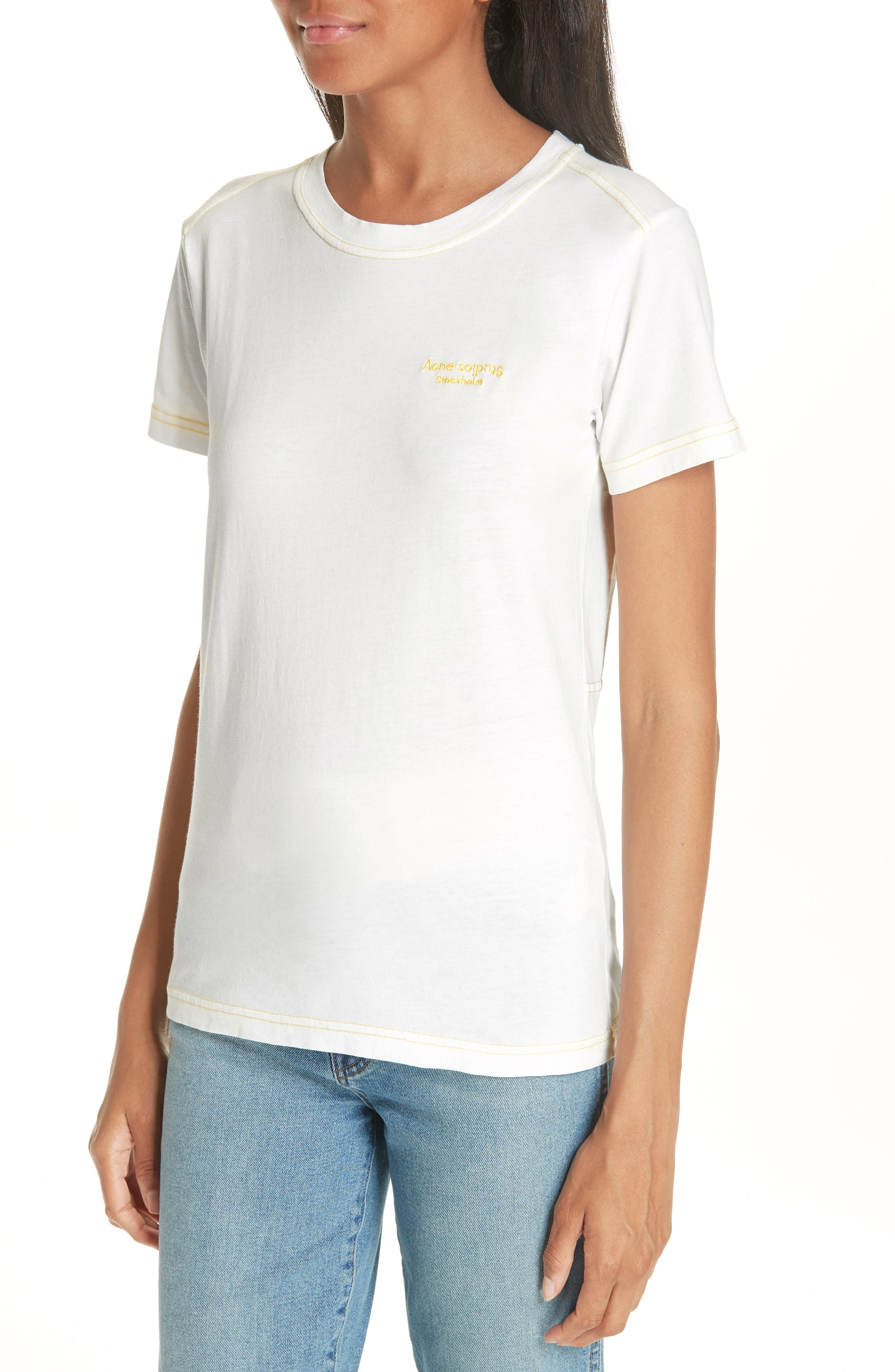 Logo Embroidered Tee,                             Alternate thumbnail 4, color,                             100