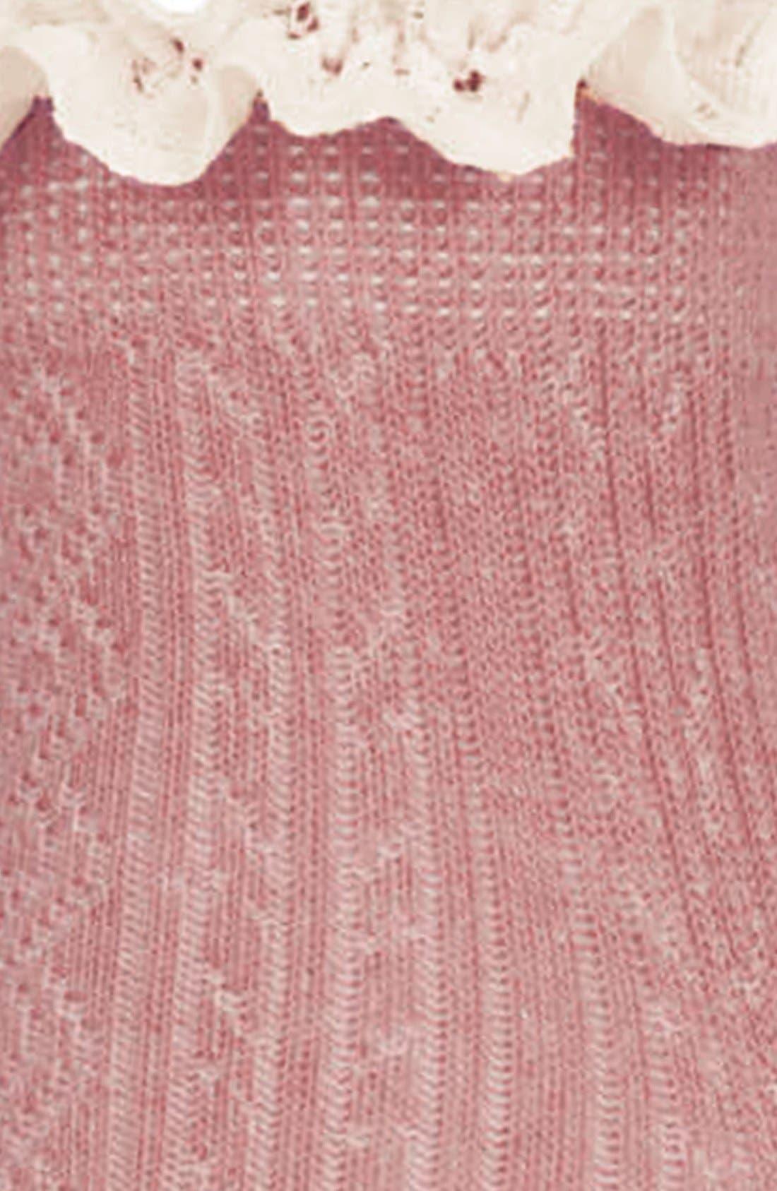 Lace Trim Ankle Socks,                             Alternate thumbnail 37, color,