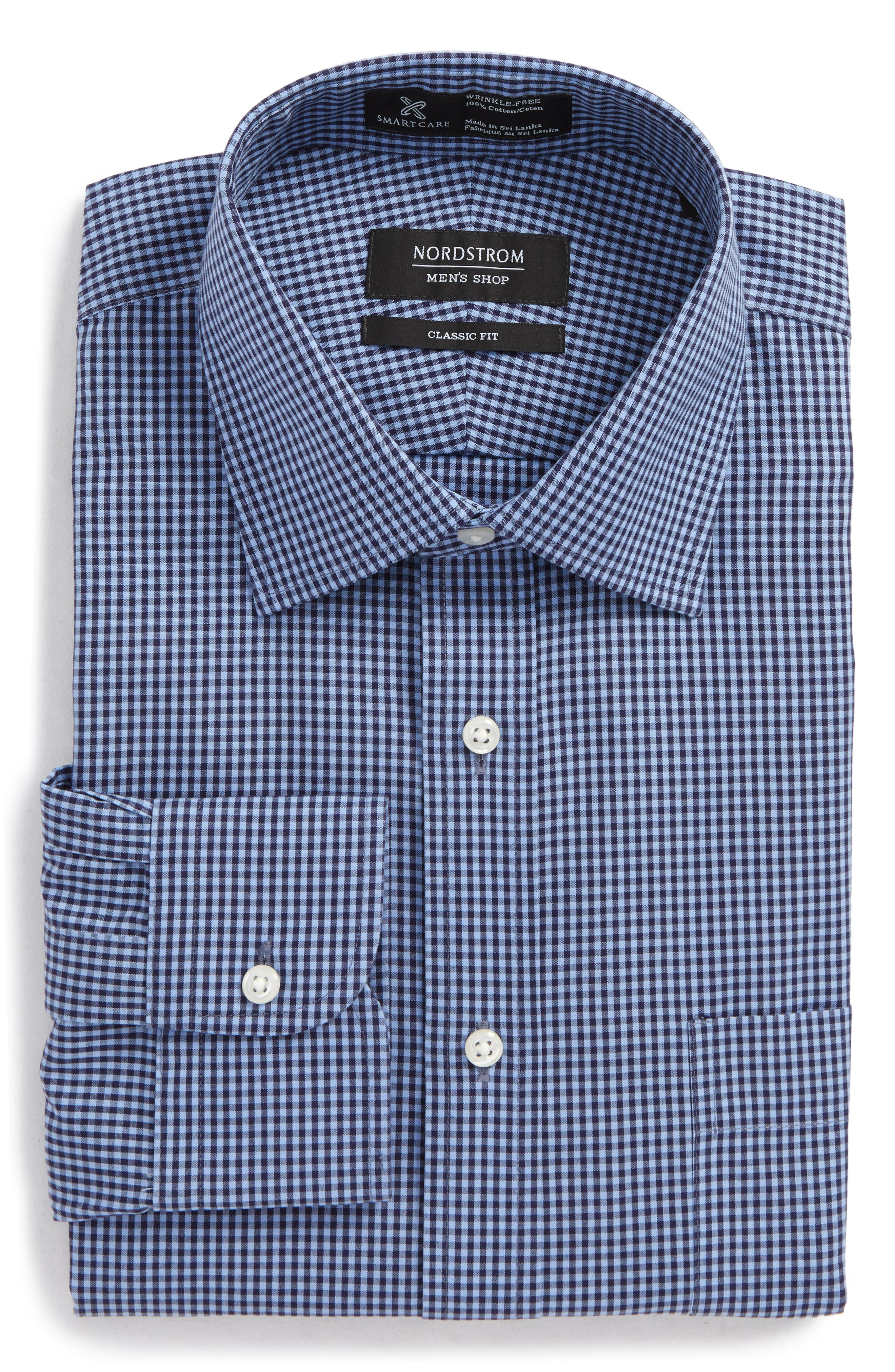 Smartcare Classic Fit Check Dress Shirt,                             Alternate thumbnail 18, color,