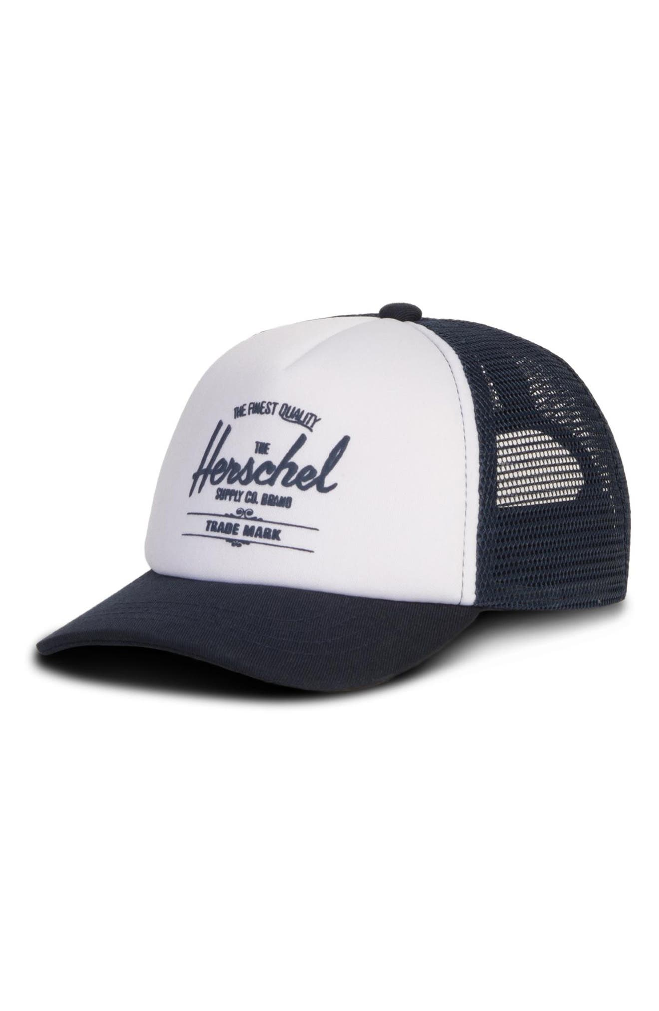 Sprout Whaler Mesh Hat,                         Main,                         color, WHITE/ NAVY