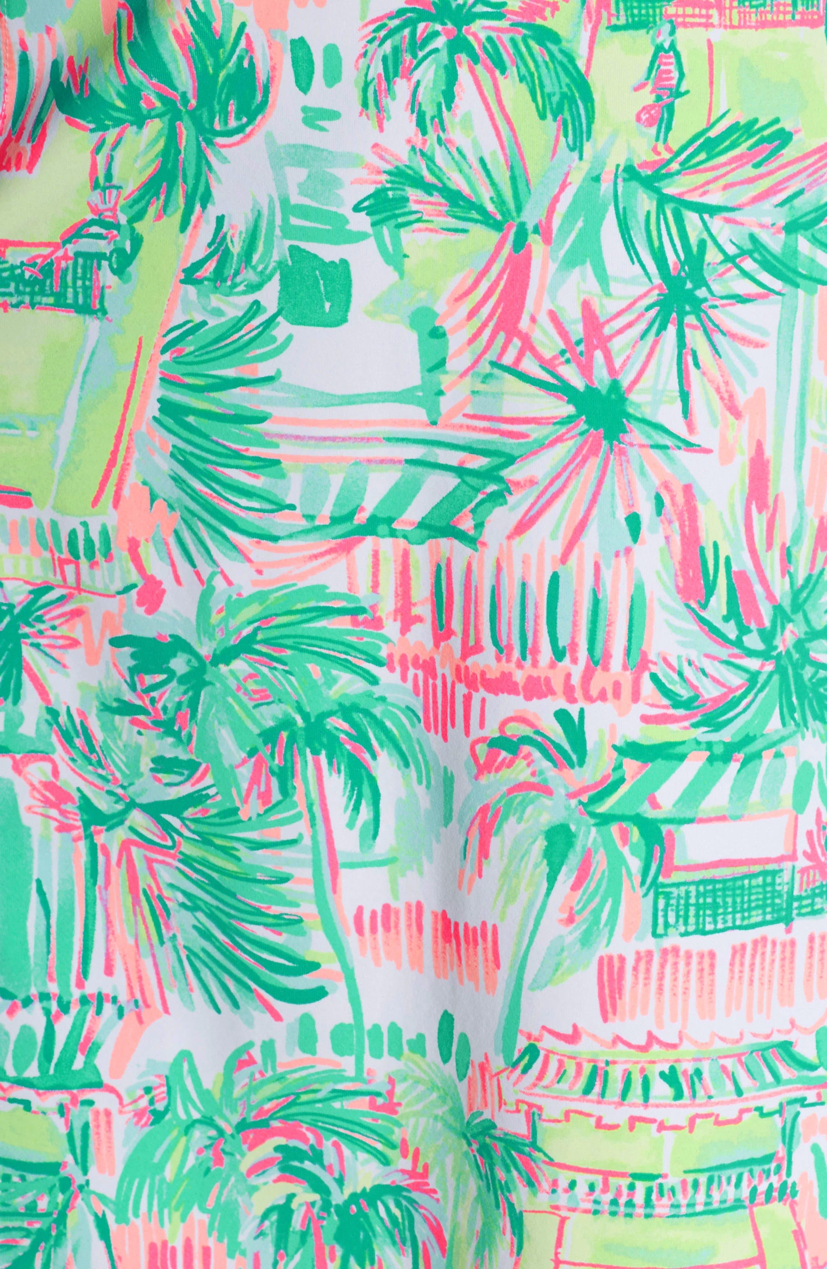 Adelia UPF 50+ Tennis Dress,                             Alternate thumbnail 6, color,                             MULTI PERFECT MATCH