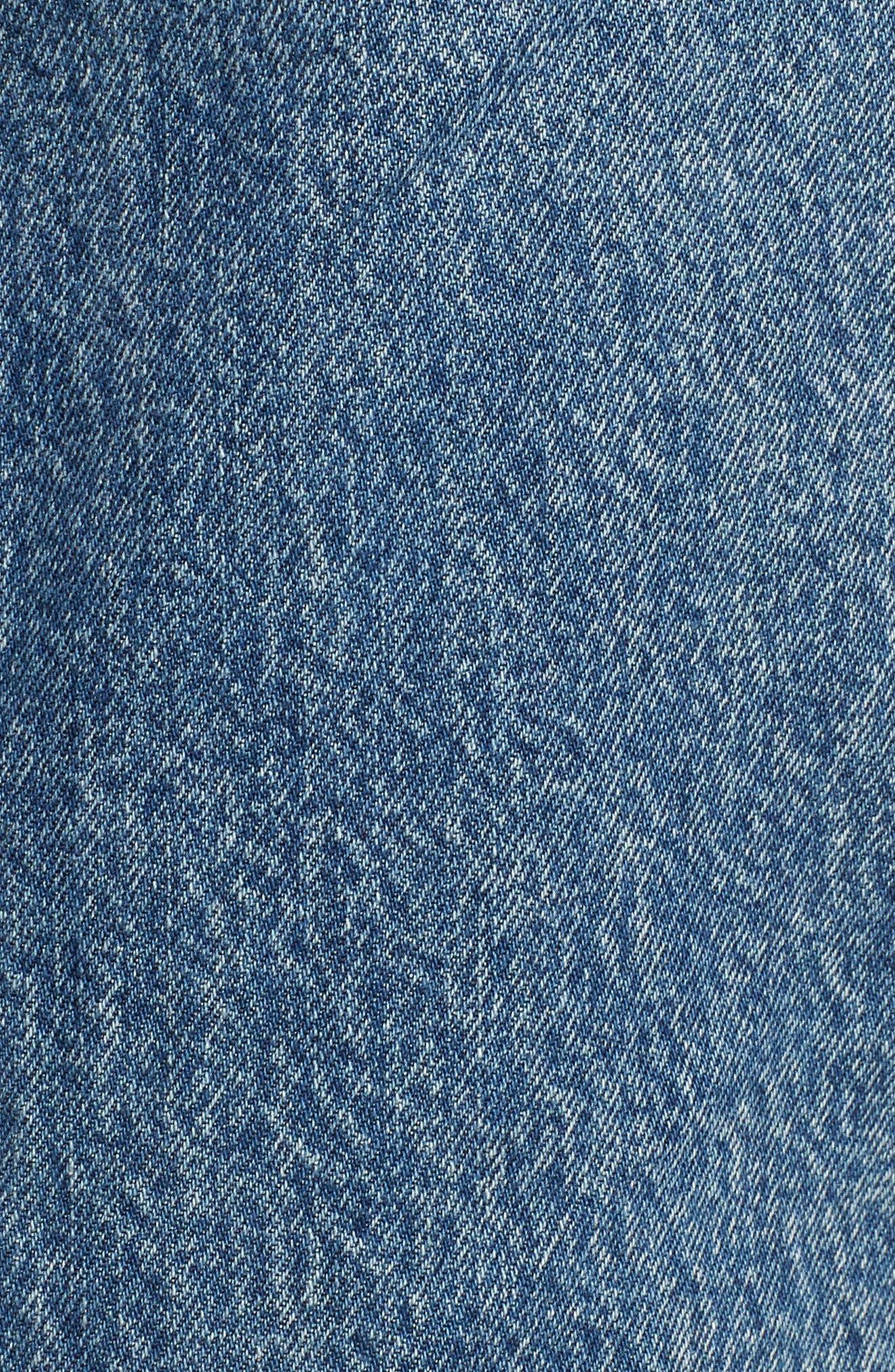 Mom Bow Back Denim Skirt,                             Alternate thumbnail 6, color,                             420