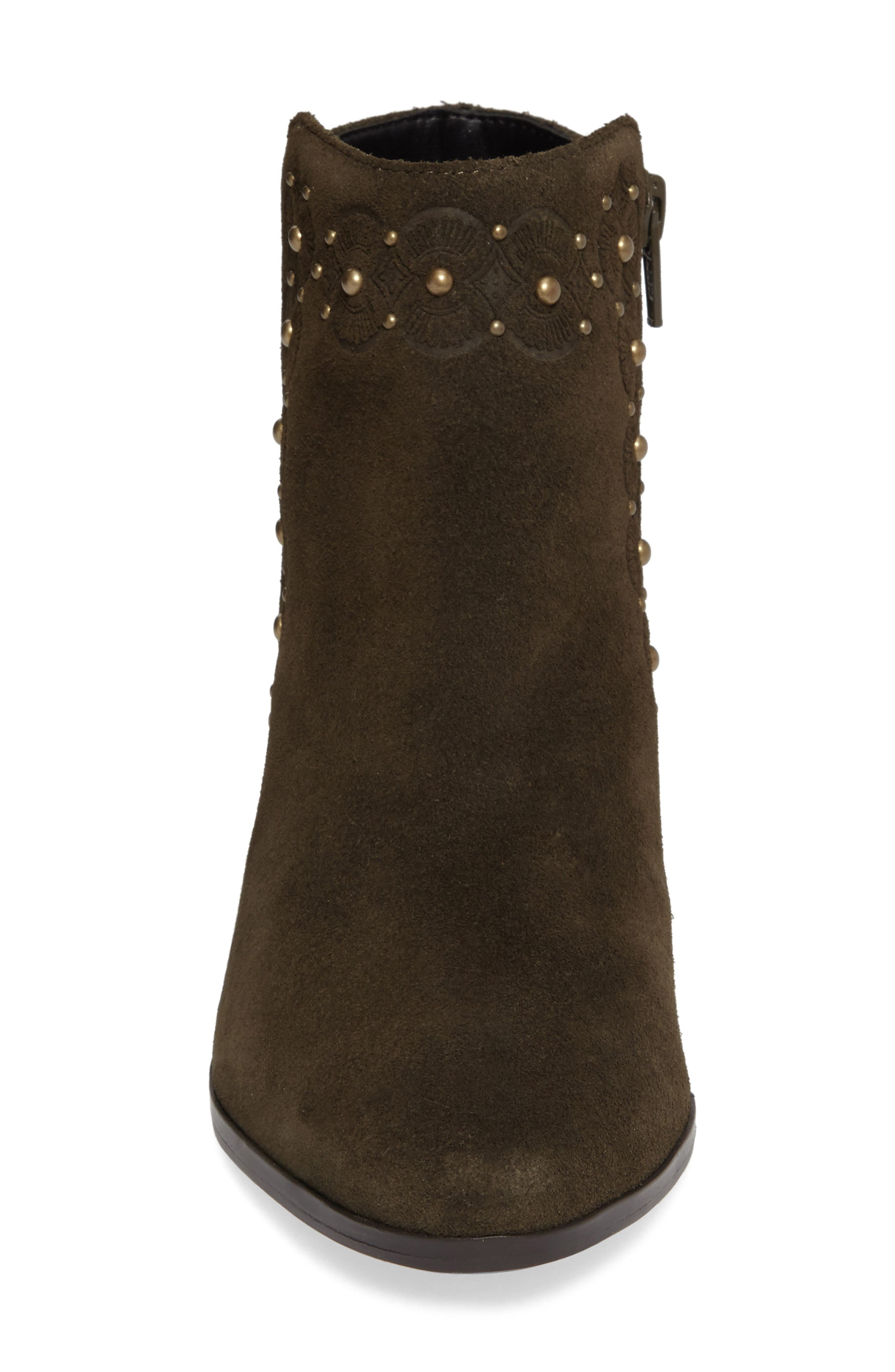Gala Studded Embossed Bootie,                             Alternate thumbnail 12, color,