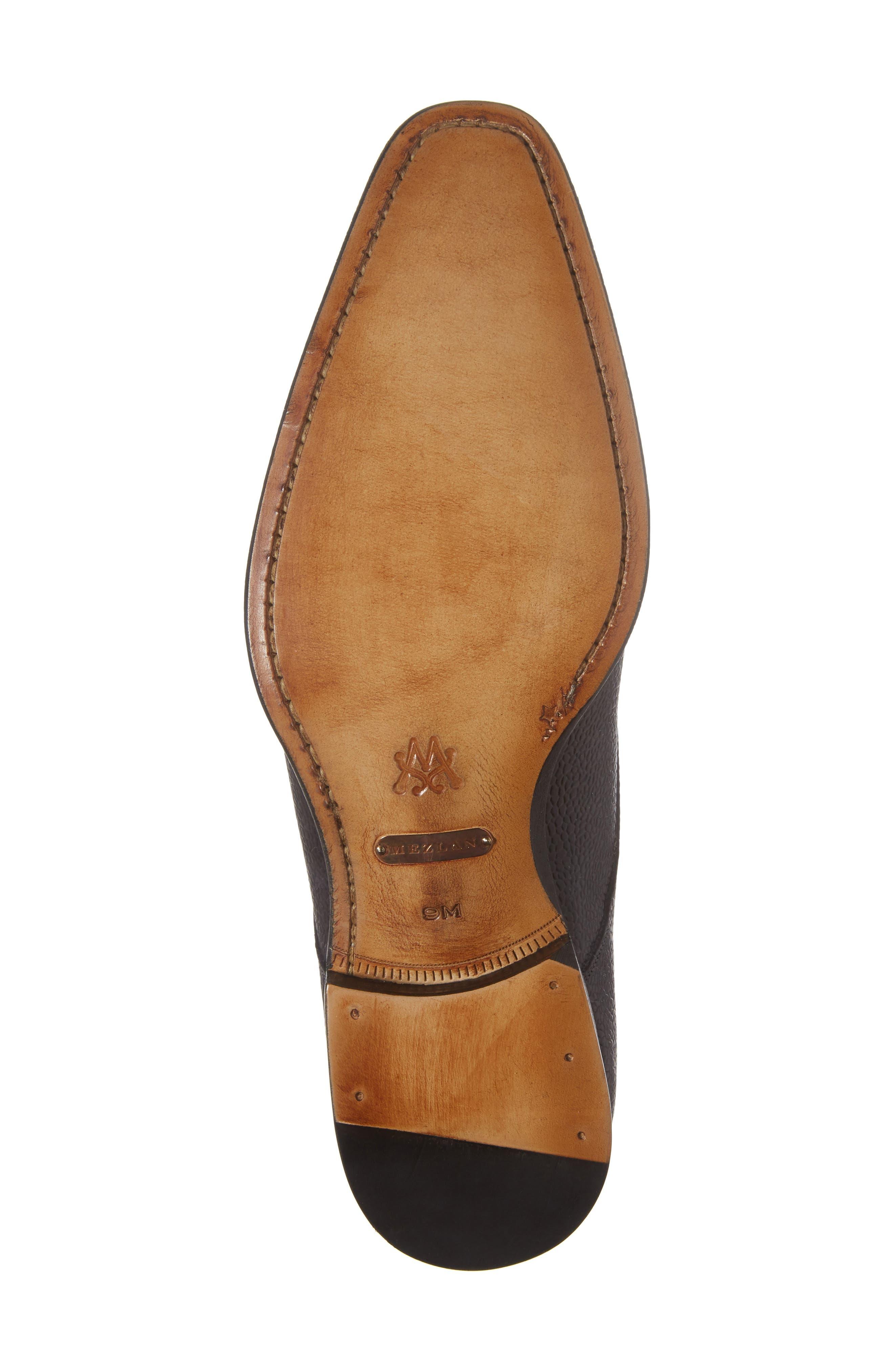 Lubrin Double Monk Strap Shoe,                             Alternate thumbnail 6, color,                             BLACK LEATHER