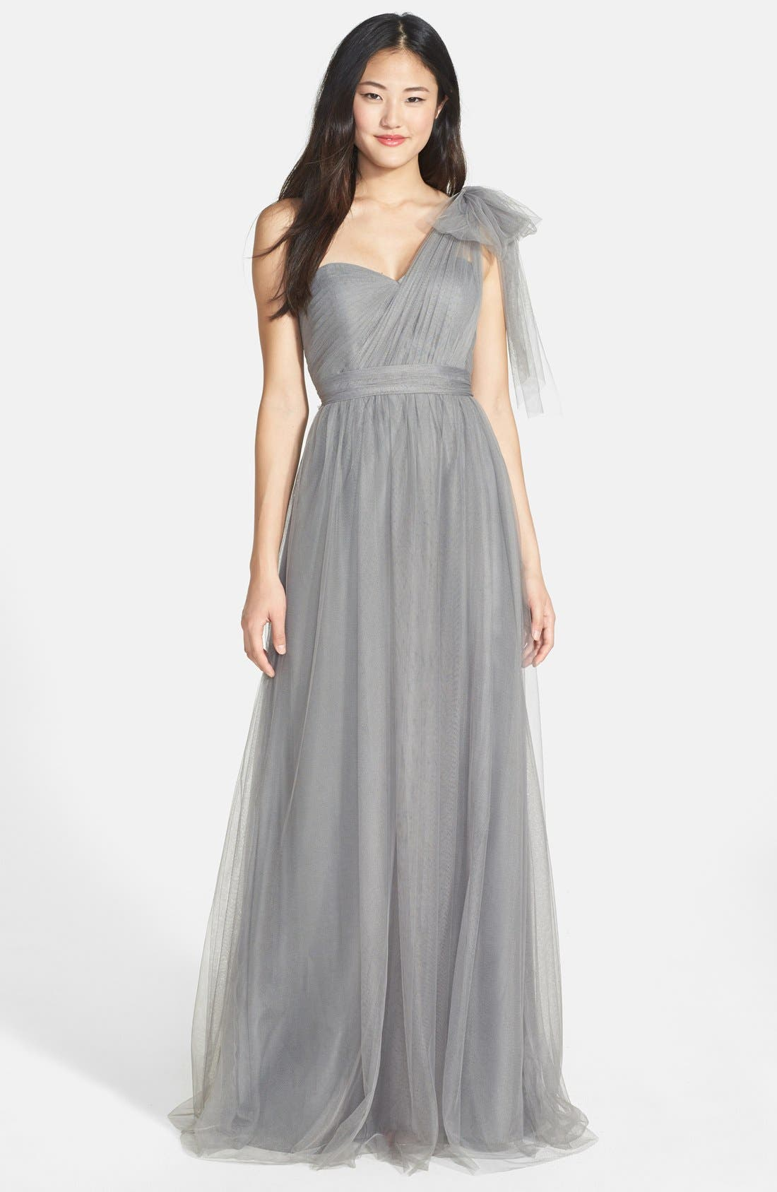 Annabelle Convertible Tulle Column Dress,                             Main thumbnail 16, color,