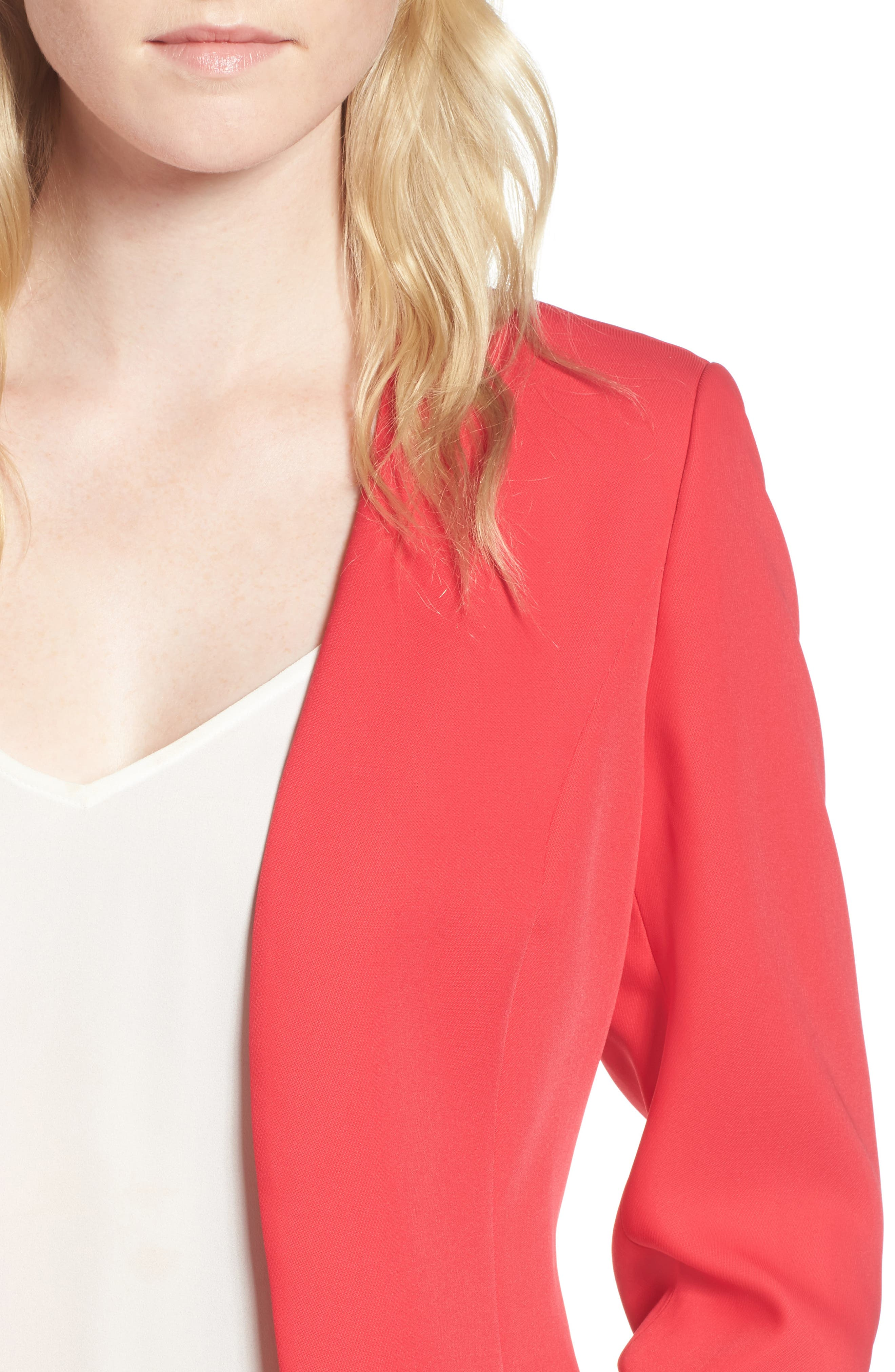 Ruched Sleeve Blazer,                             Alternate thumbnail 8, color,