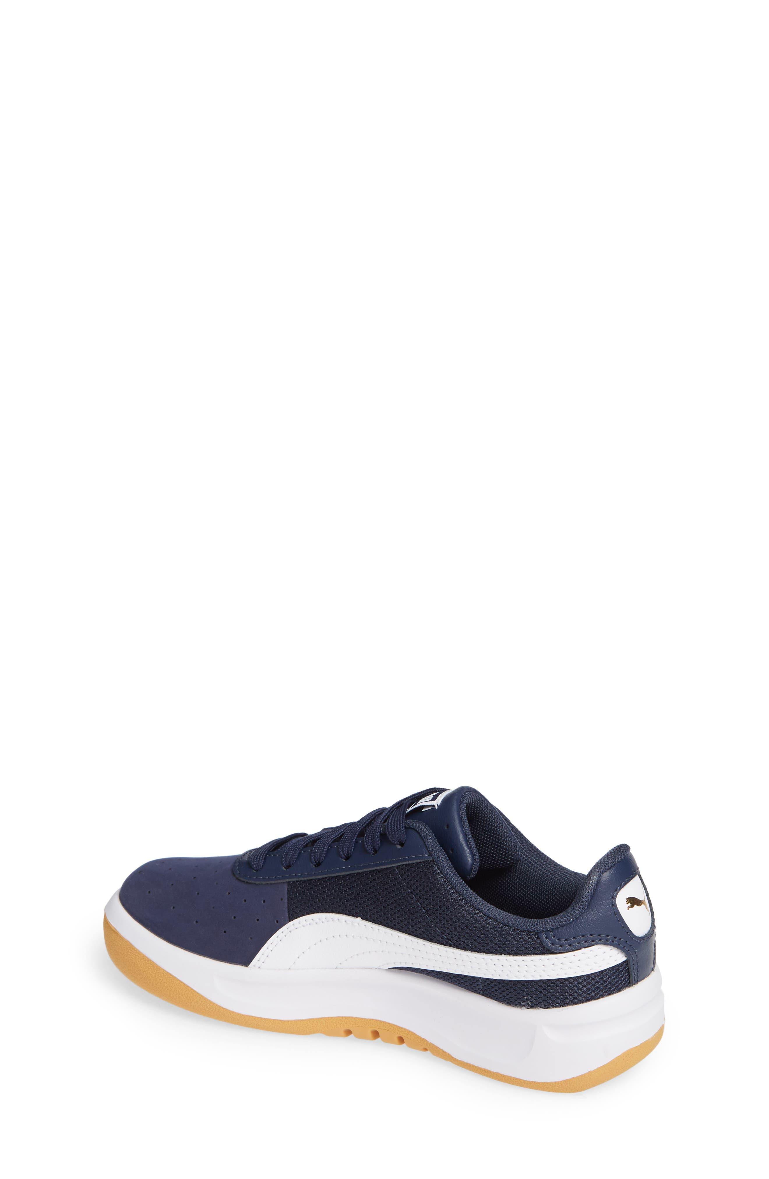 California Casual Jr. Sneaker,                             Alternate thumbnail 2, color,                             PEACOAT-PUMA WHITE-GOLD