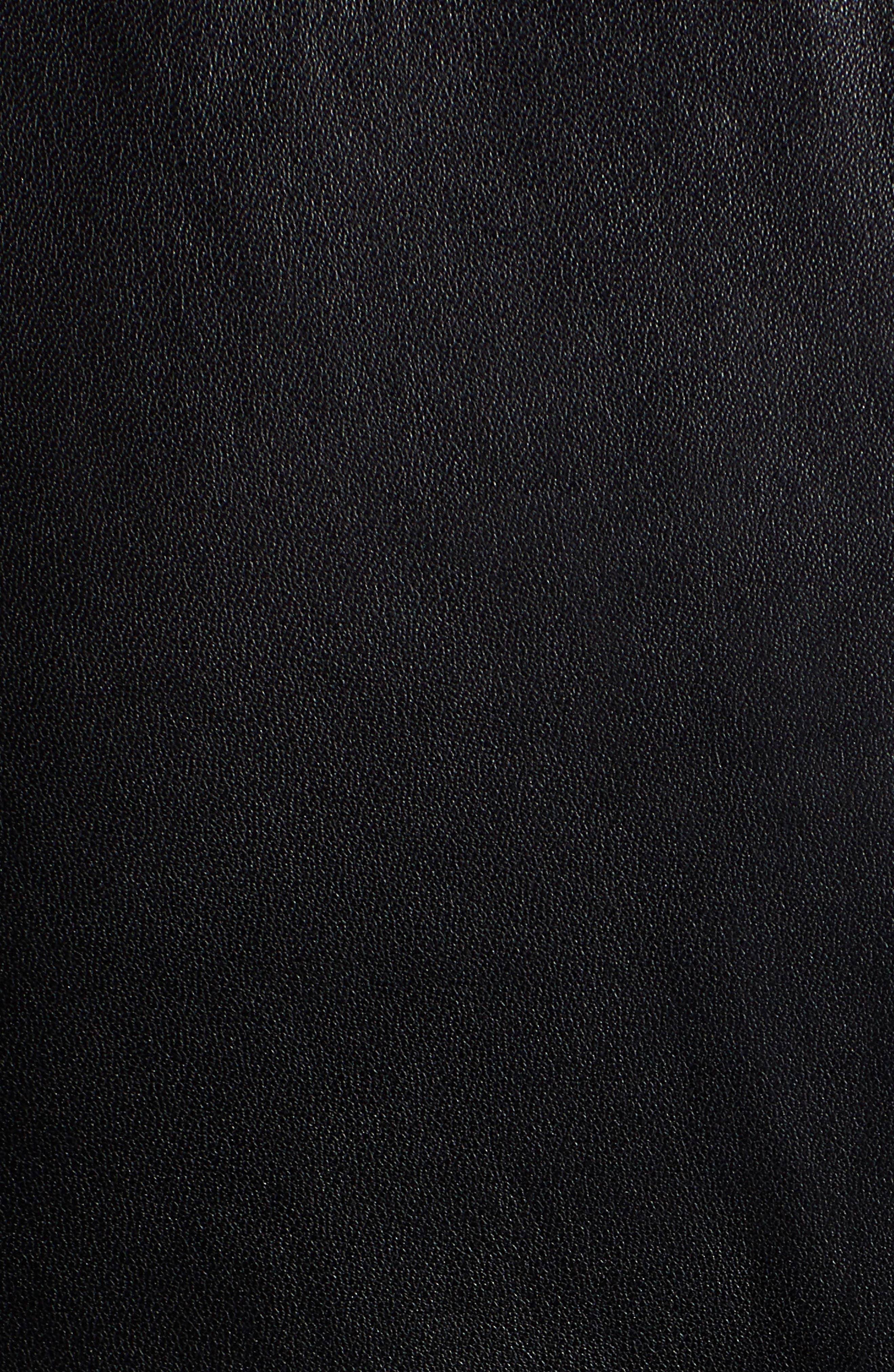 Lizia Minimal Biker Jacket,                             Alternate thumbnail 7, color,                             BLACK