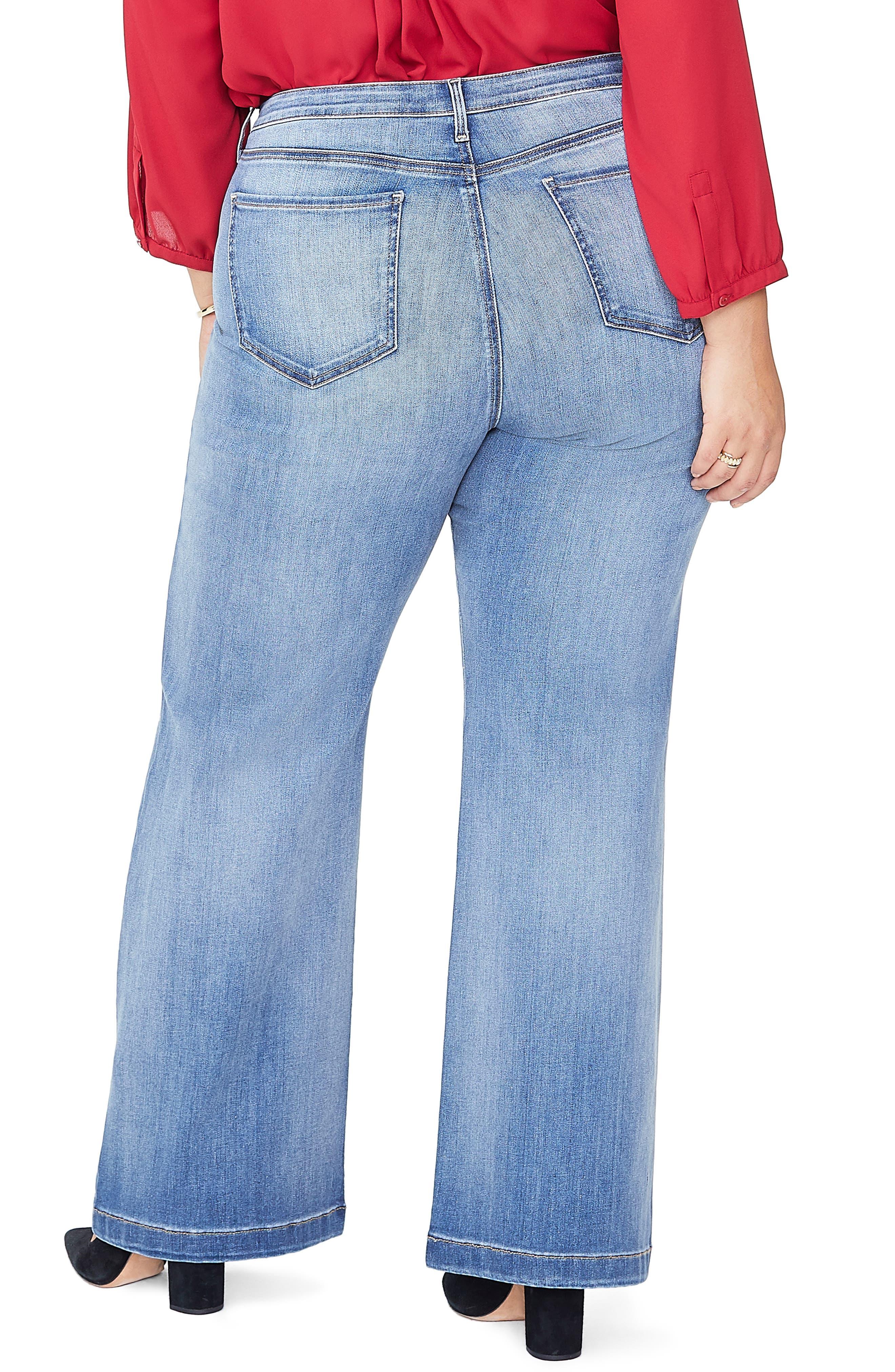 Wide Leg Jeans,                             Alternate thumbnail 2, color,                             CLEAN CABRILLO