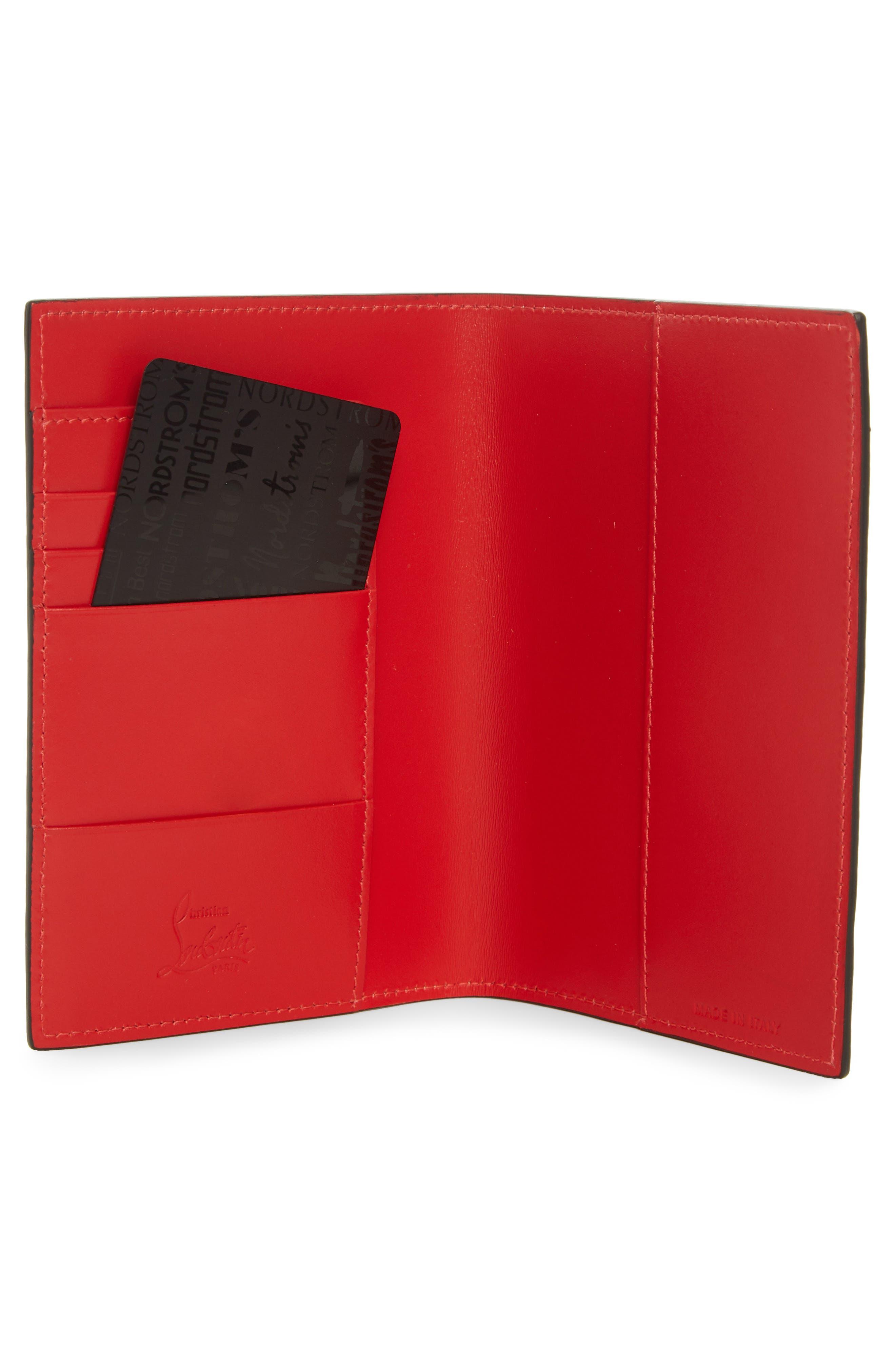 Loubipass Crazy Love Passport,                             Alternate thumbnail 2, color,                             SOIE-LATTE/ SILVER