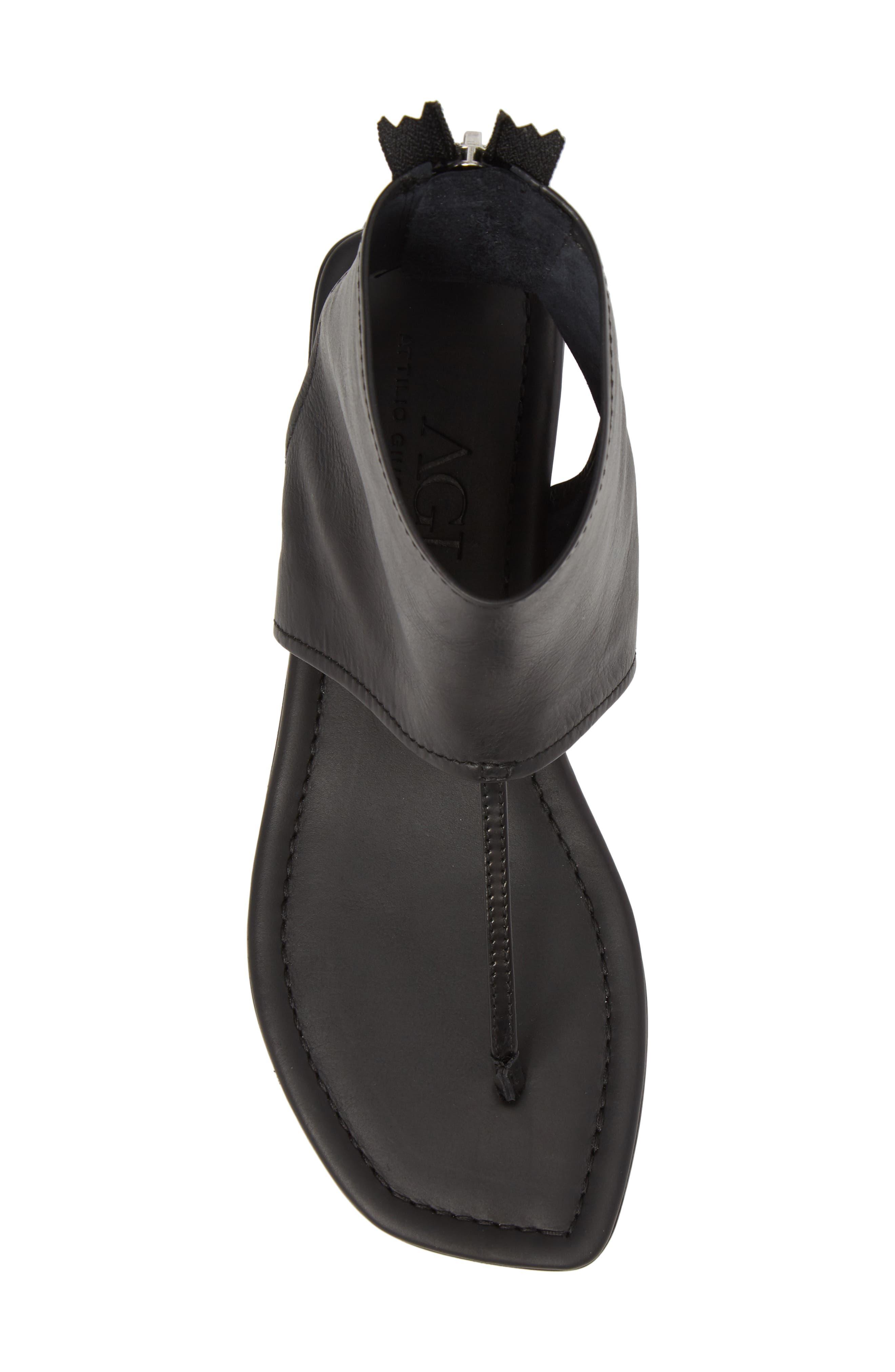 Ankle Shield Thong Sandal,                             Alternate thumbnail 5, color,                             001