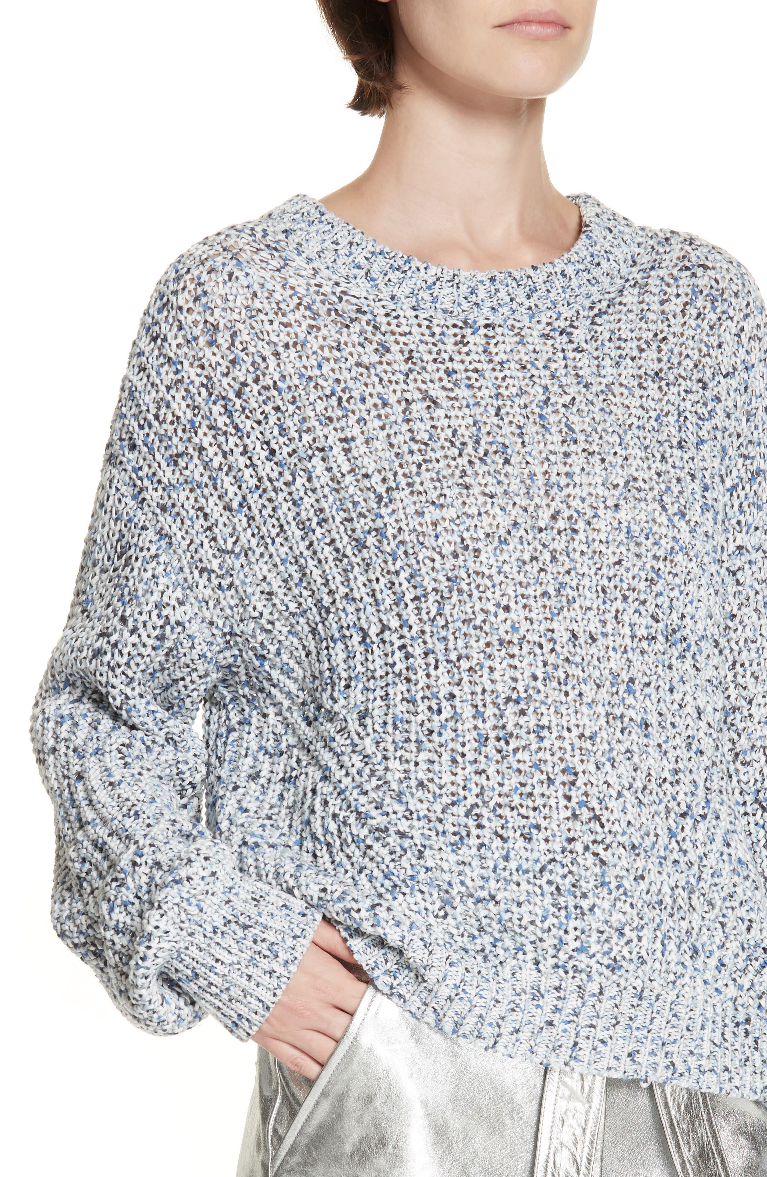 Ryce Cotton Sweater,                             Alternate thumbnail 4, color,                             BLUE MULIT