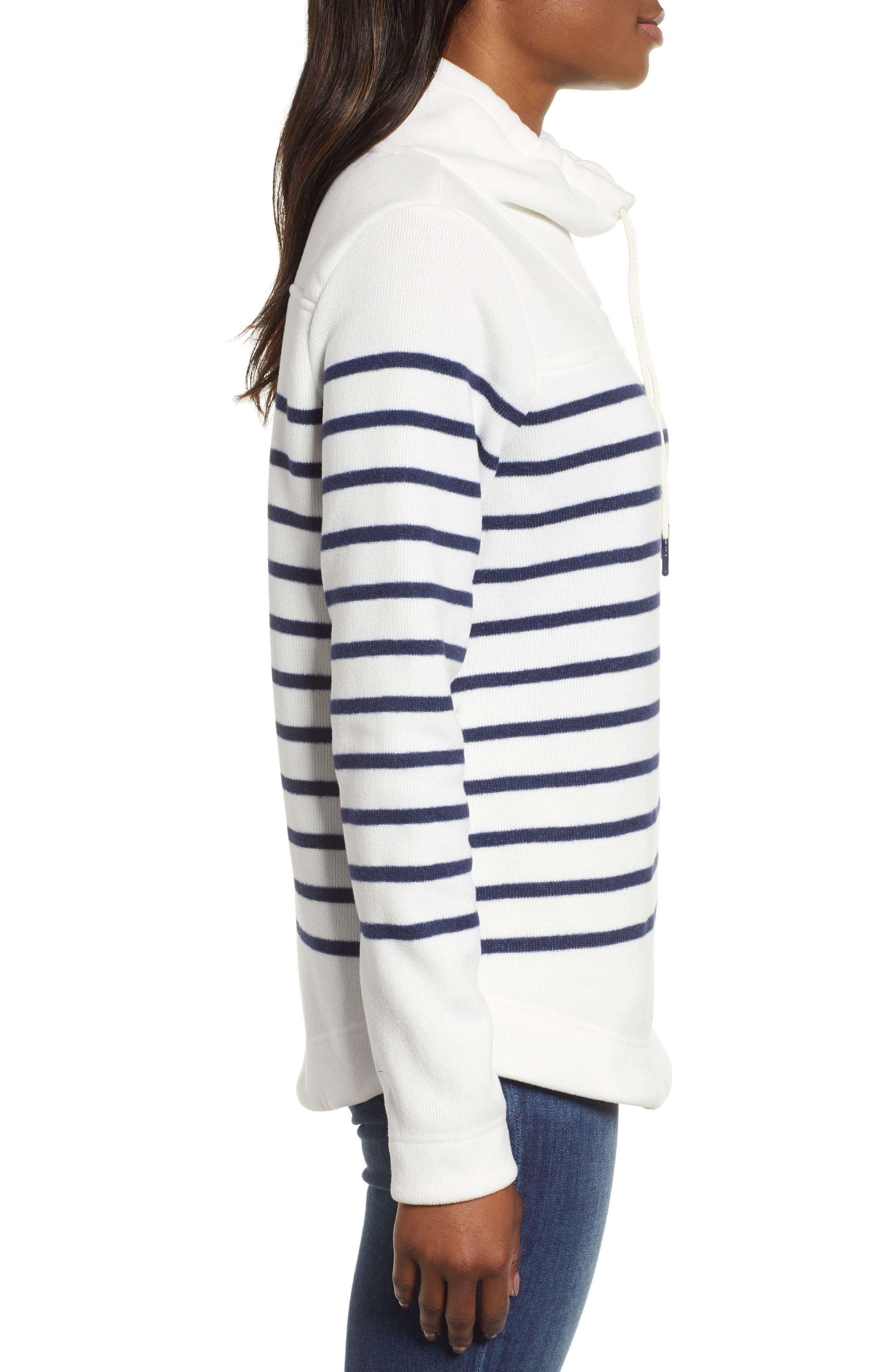 Funnel Neck Stripe Sweater,                             Alternate thumbnail 3, color,                             111