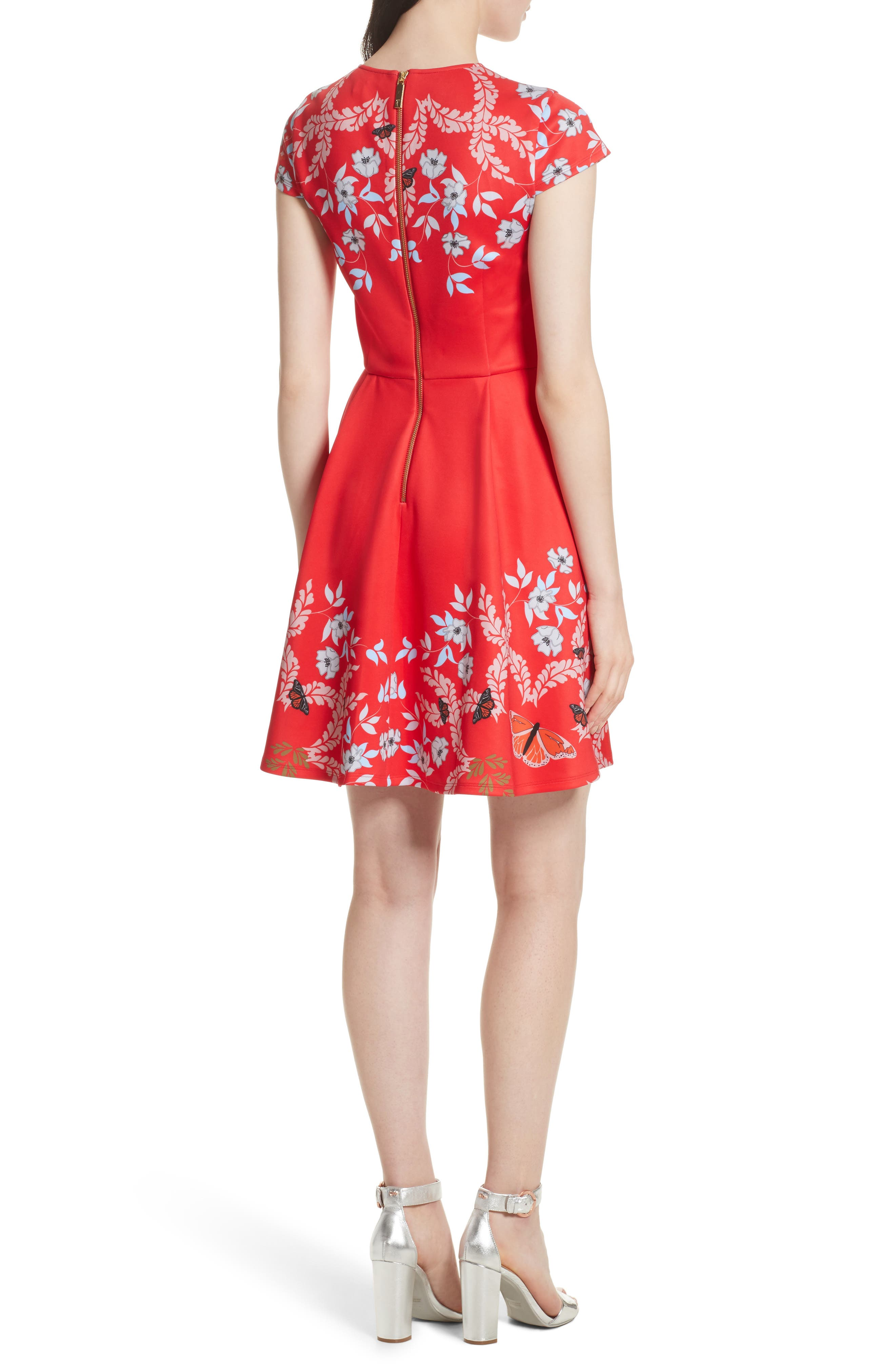 Saydi Kyoto Skater Dress,                             Alternate thumbnail 2, color,