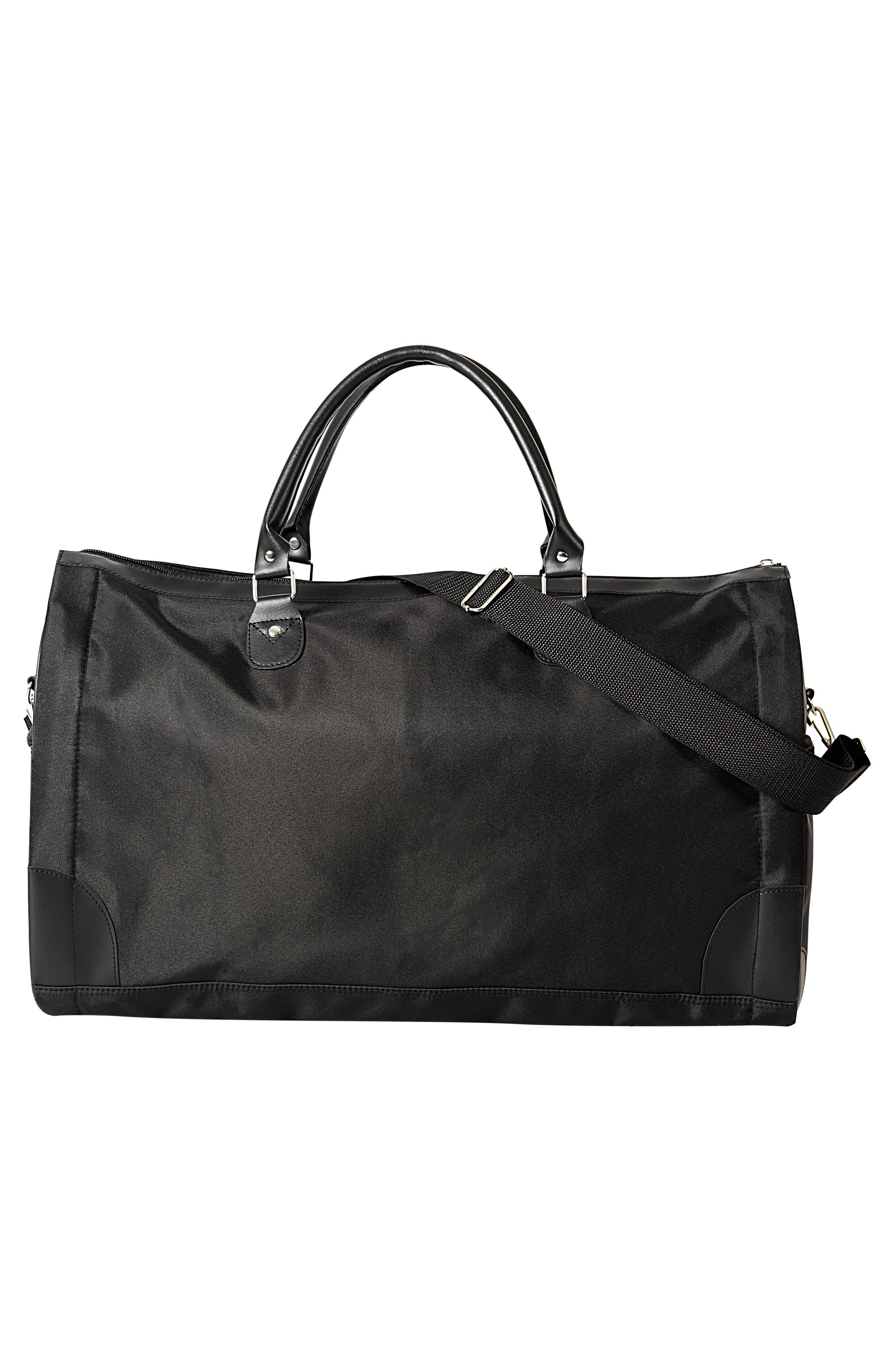 Monogram Duffel/Garment Bag,                             Alternate thumbnail 4, color,                             BLACK