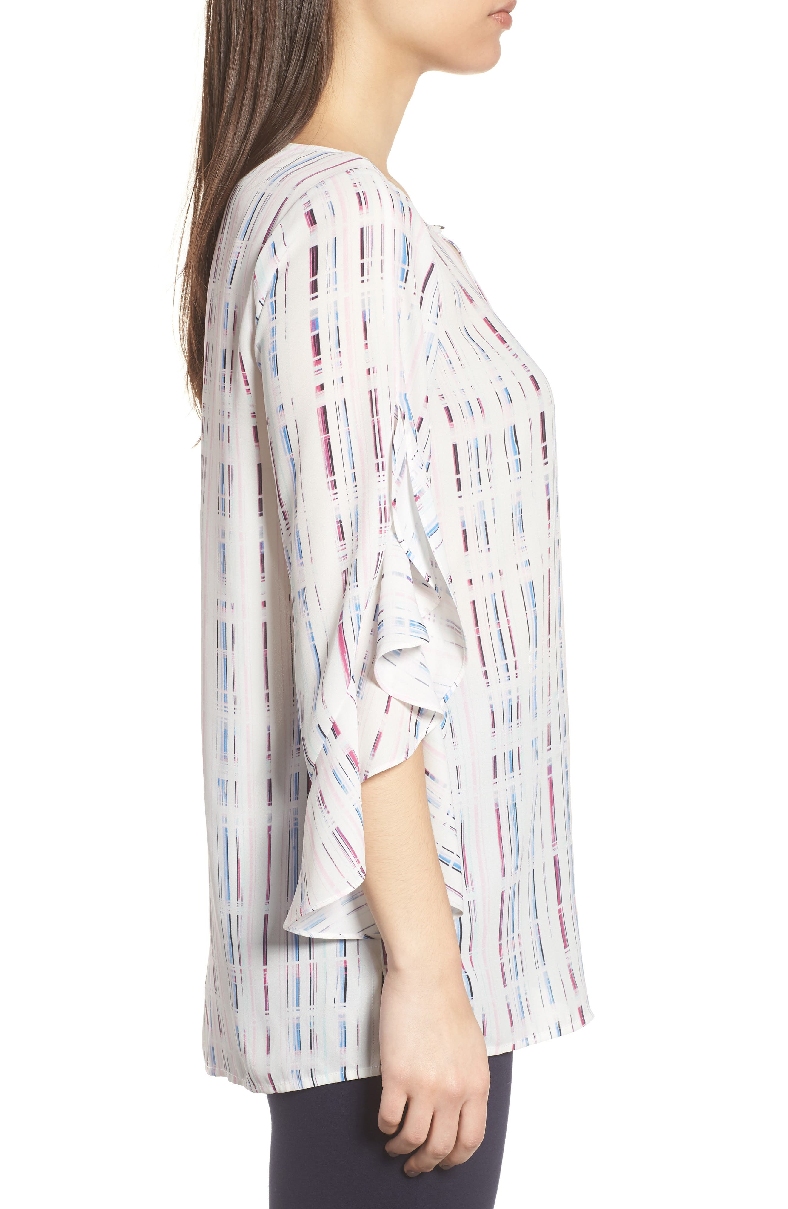 Prism Grid Print Blouse,                             Alternate thumbnail 3, color,                             900