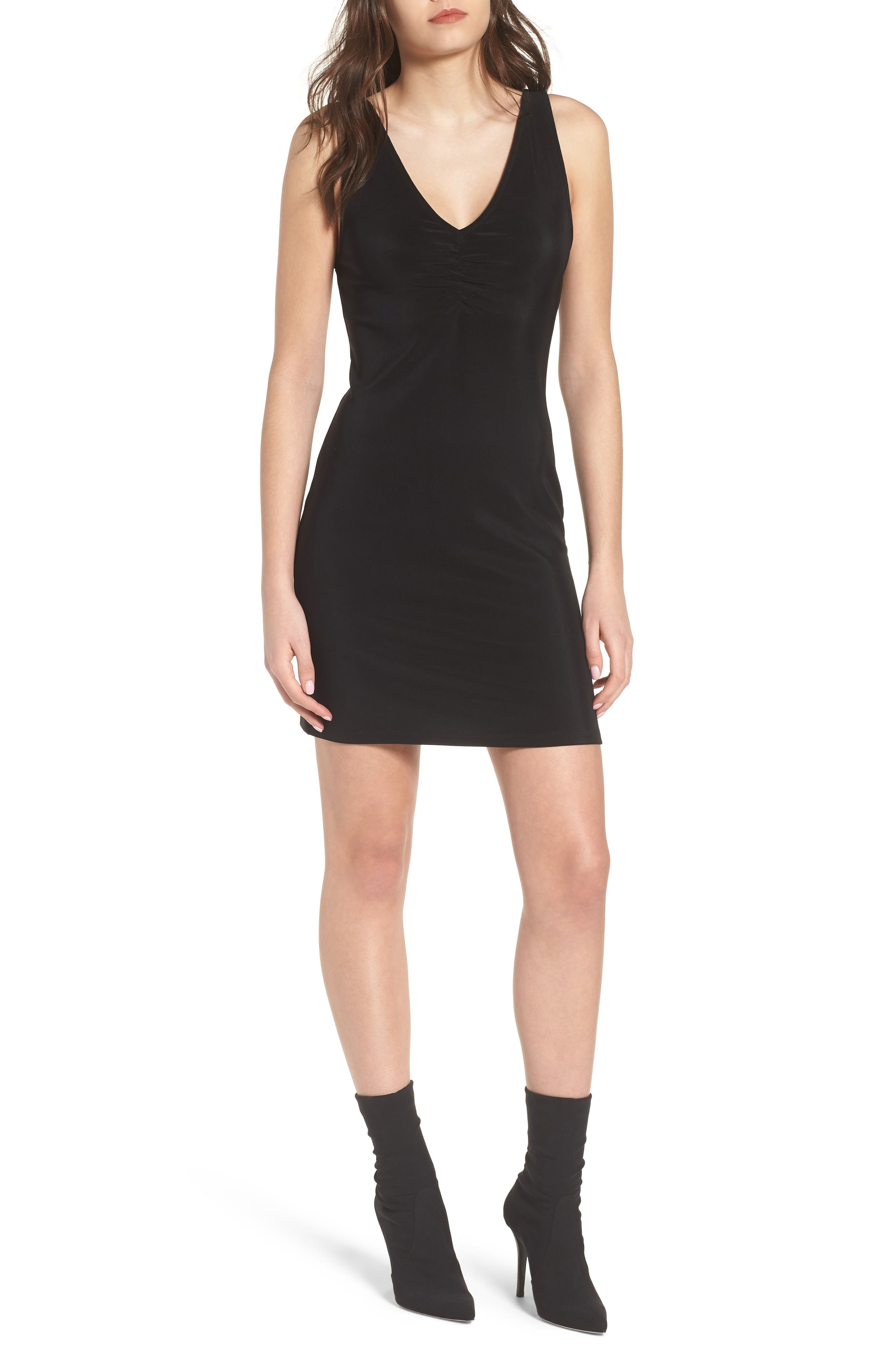 Smocked Body-Con Dress,                             Main thumbnail 1, color,                             001