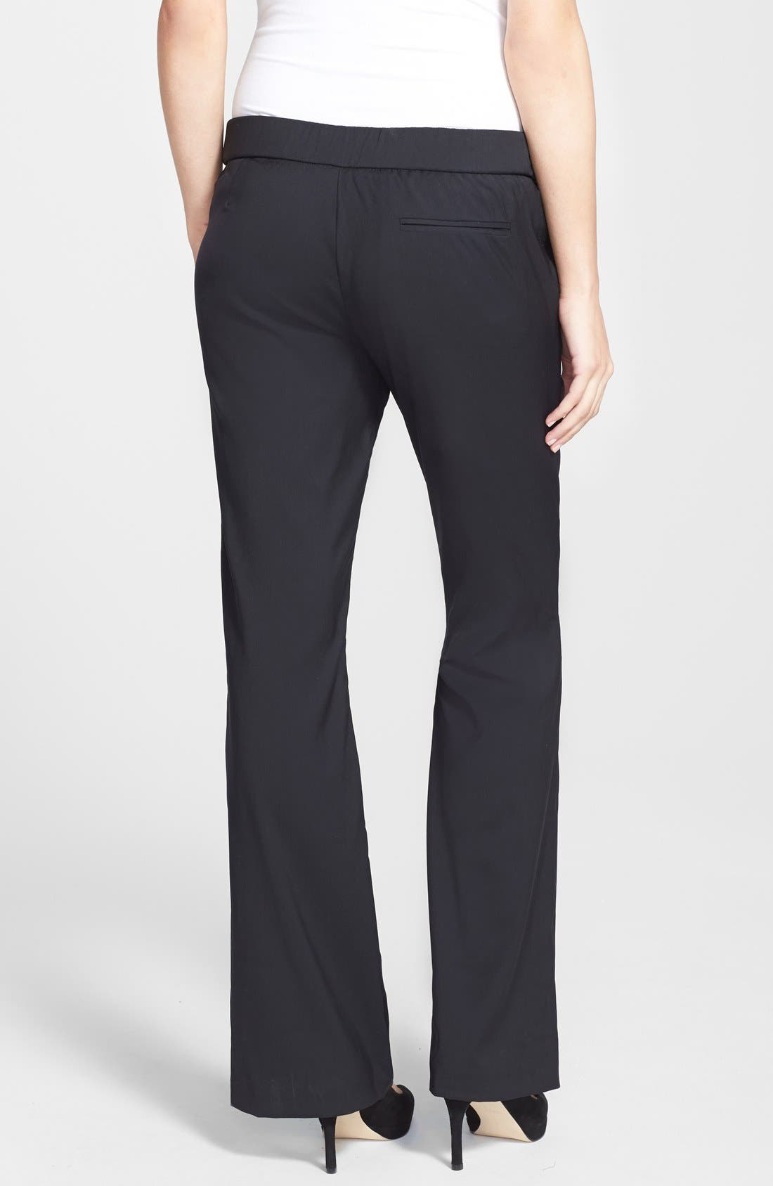 London 'Morgan' Tailored Maternity Pants,                             Alternate thumbnail 4, color,                             001