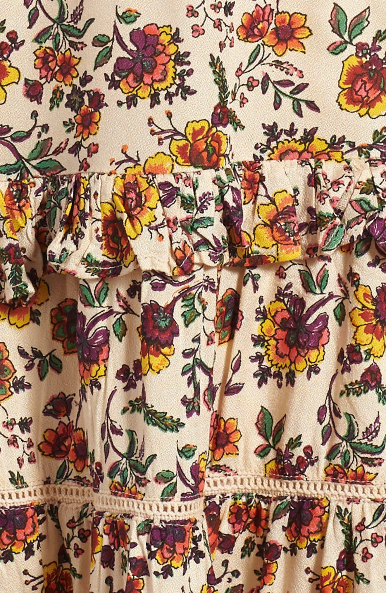 Natalie Print Dress,                             Alternate thumbnail 3, color,                             905