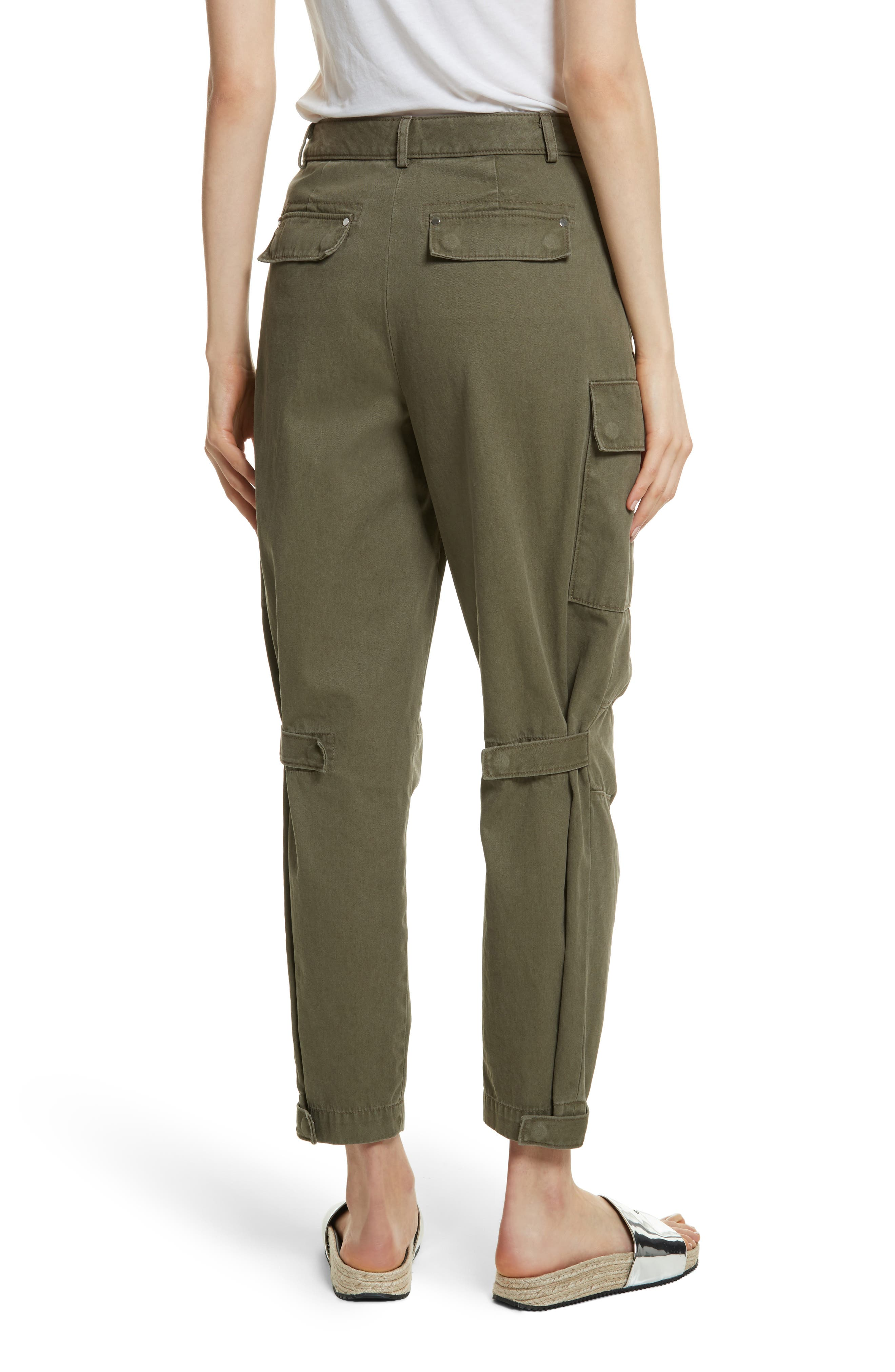 T by Alexander Wang Twill Cargo Pants,                             Alternate thumbnail 2, color,                             309