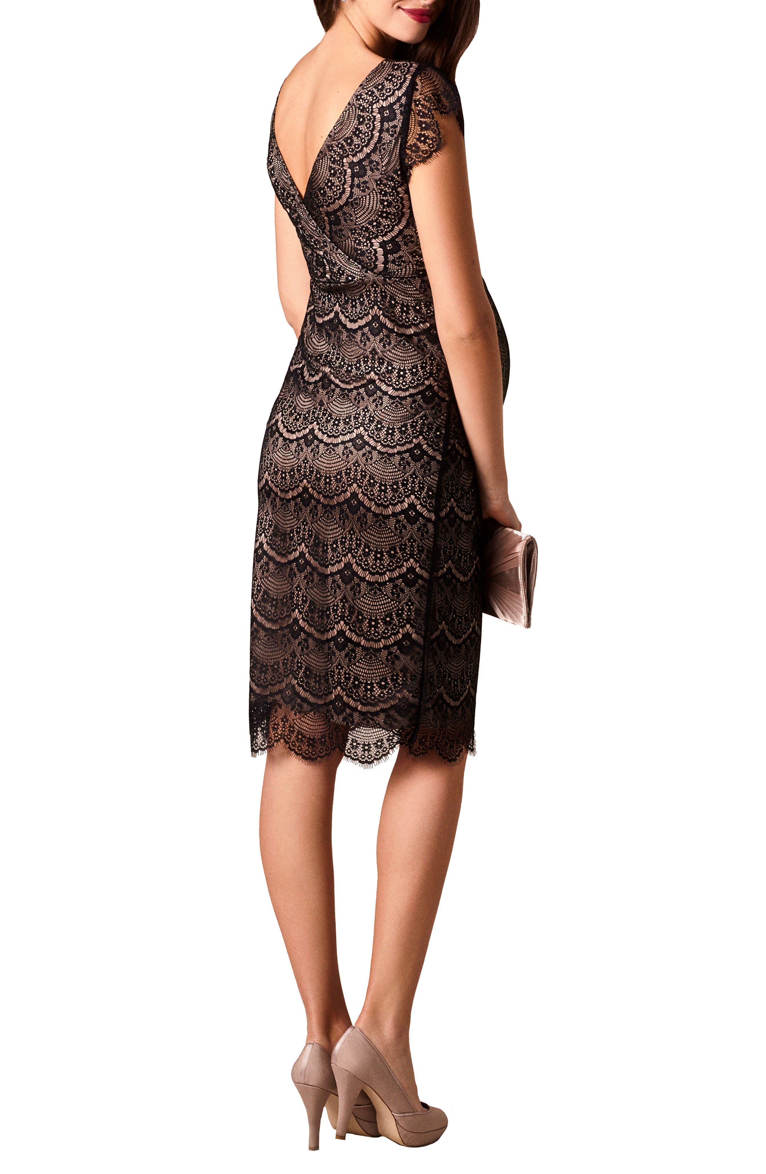 Imogen Maternity Dress,                             Alternate thumbnail 2, color,                             BLACK